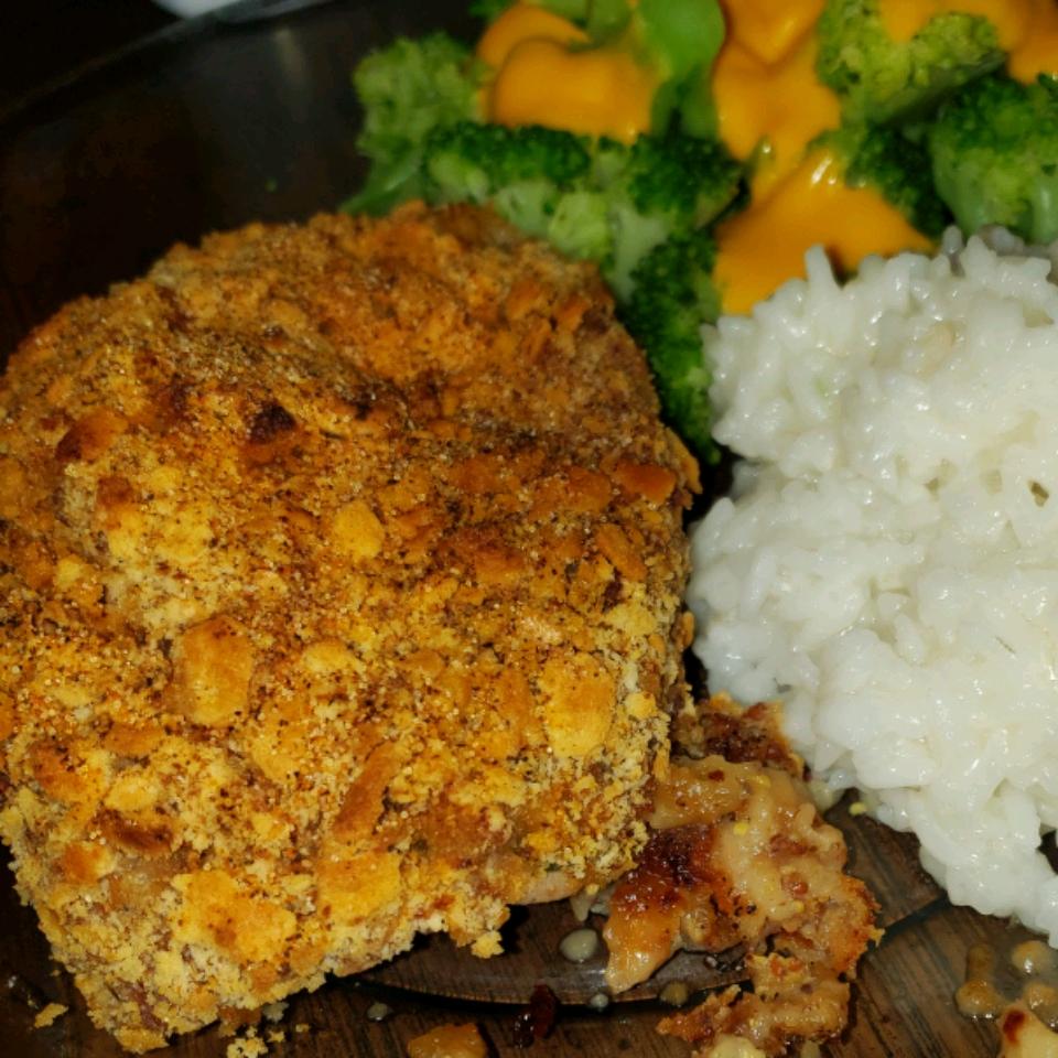 Gouda and Spinach Stuffed Pork Chops
