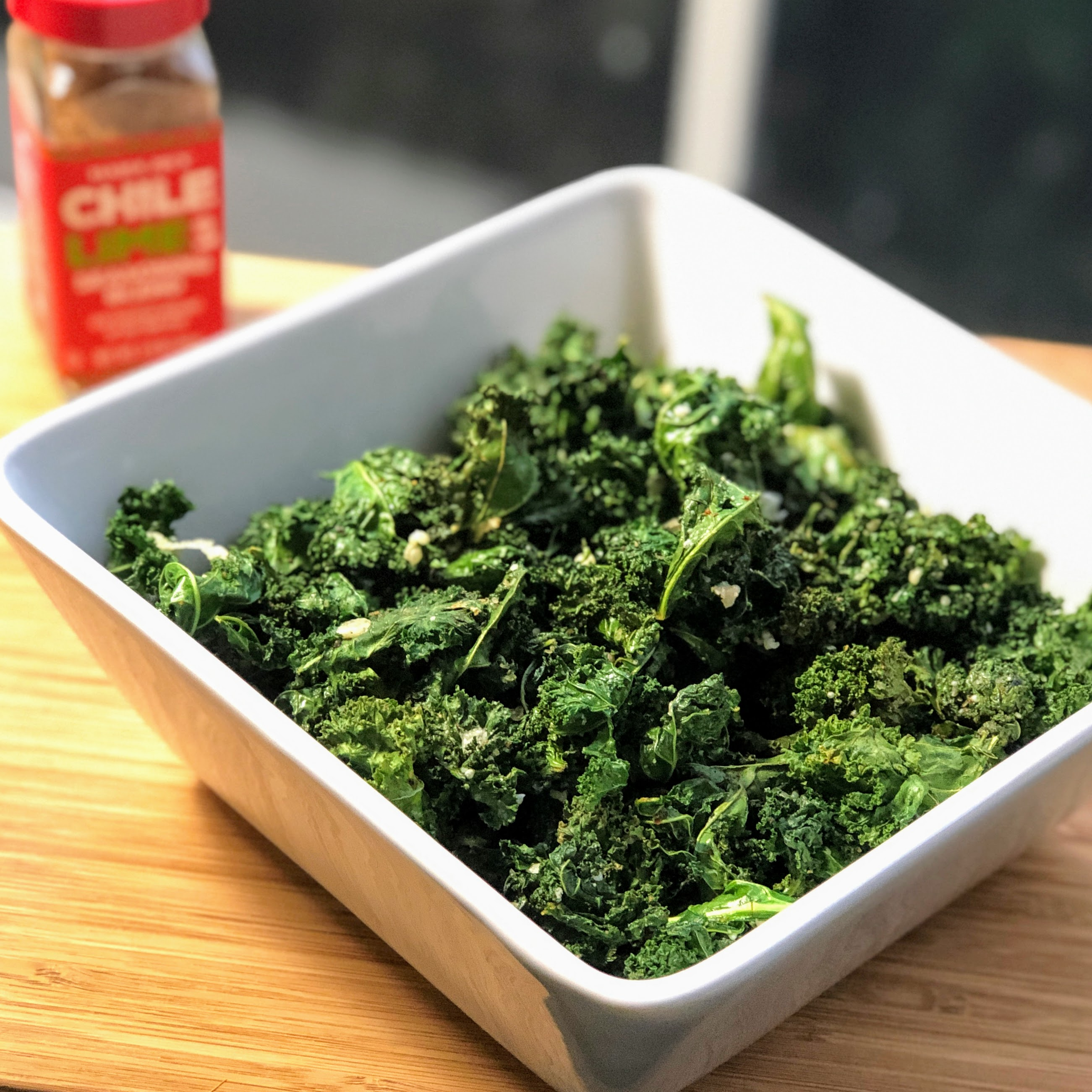 Air Fryer Kale Chips with Parmesan