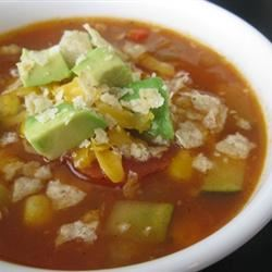 Vegetarian Tortilla Soup mommyluvs2cook