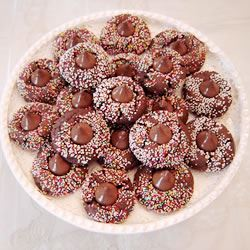 Jeanne's Chocolate Kiss Cookies SNOWDAYBAKER