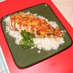Coriander Chicken with Mango Salsa mrsallary