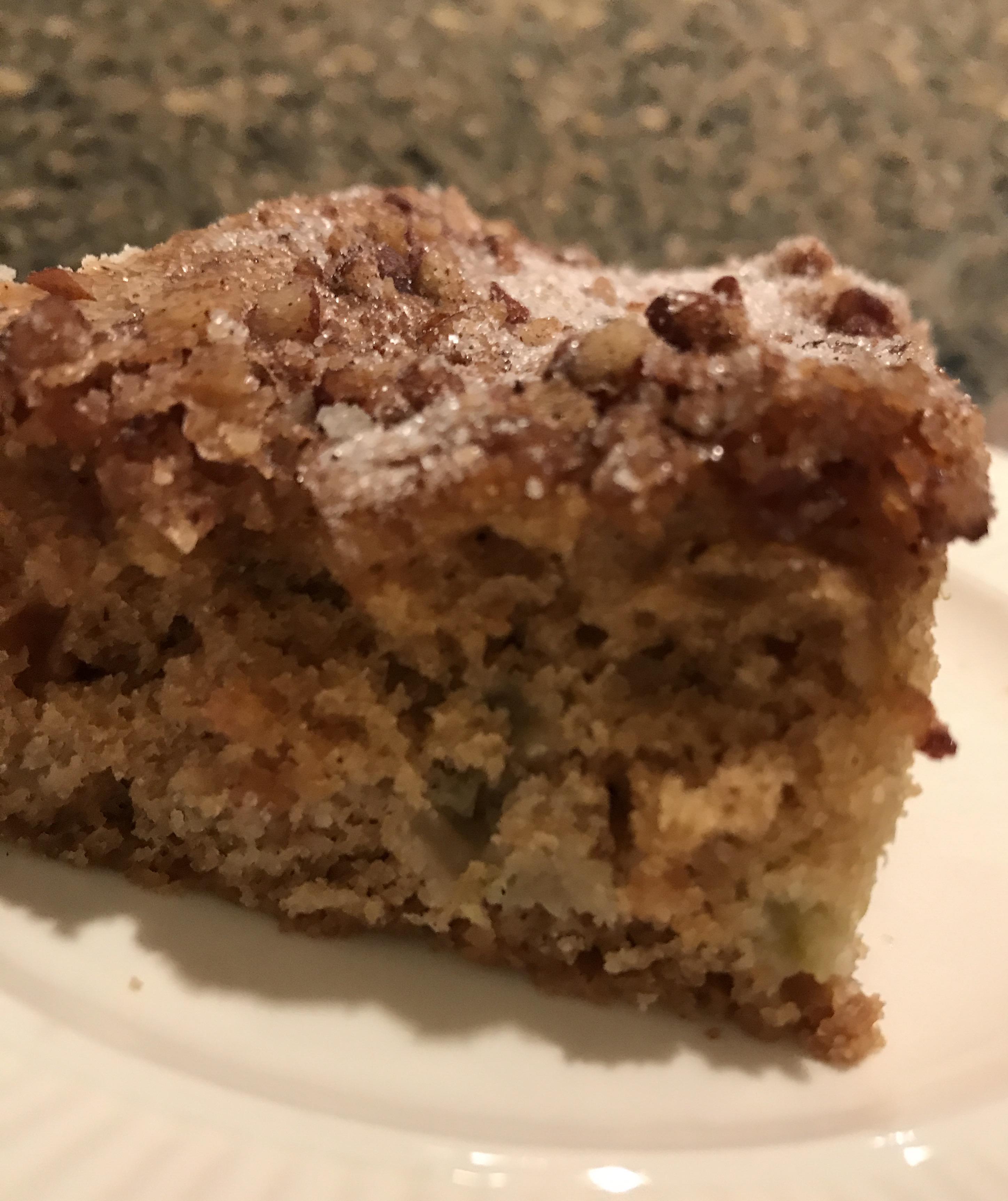 Rhubarb Coffee Cake with Buttermilk