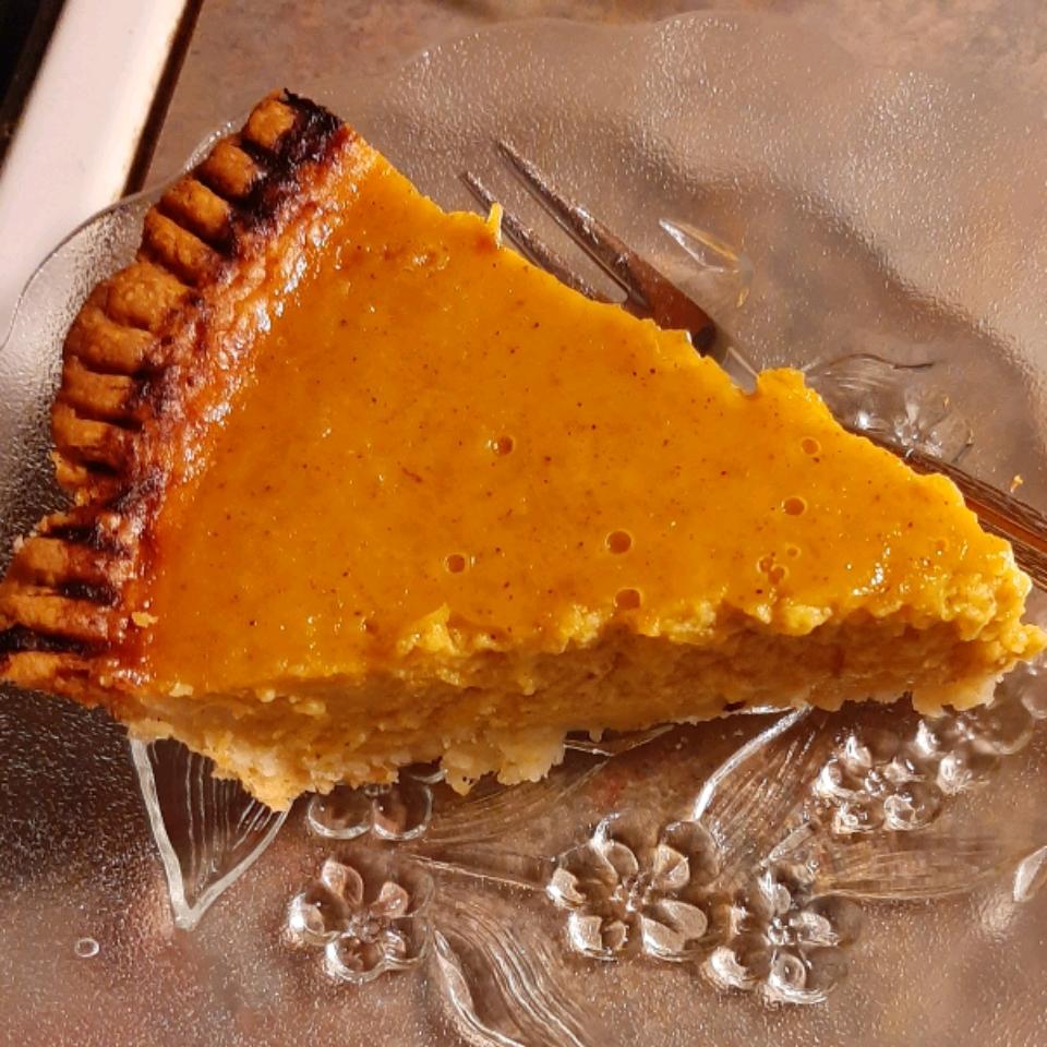 Homemade Fresh Pumpkin Pie