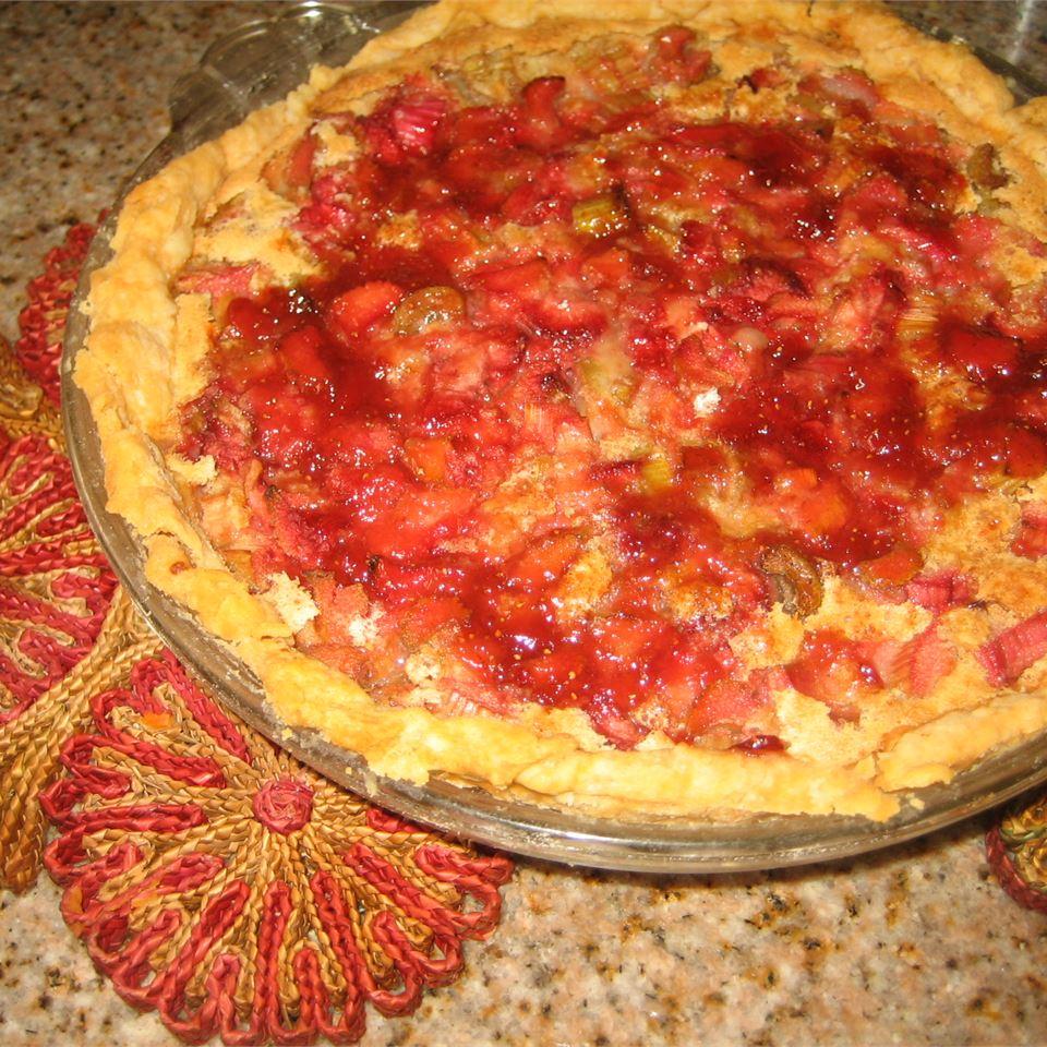 Strawberry Rhubarb Custard Pie mamacook