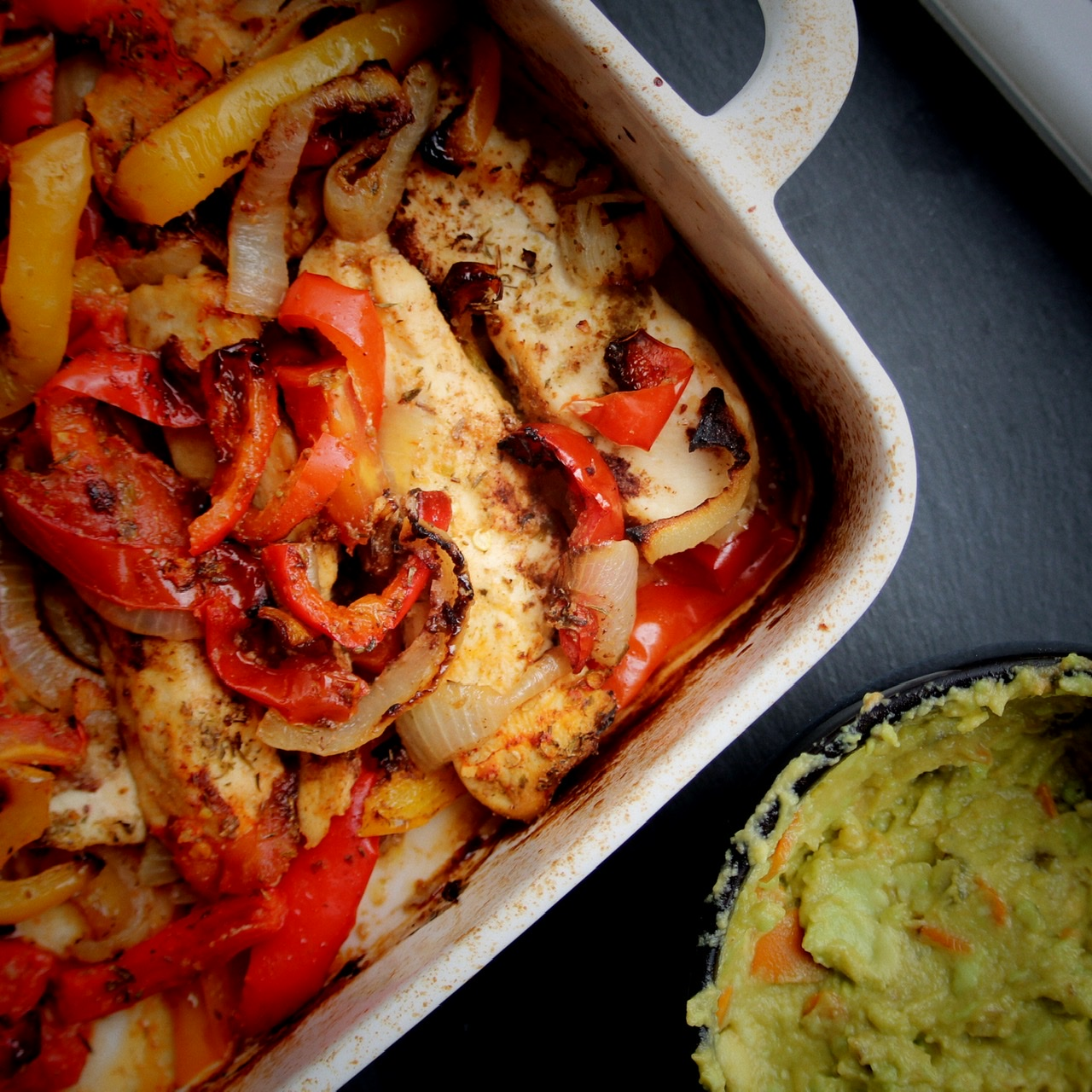 Quick and Easy Baked Chicken Fajitas