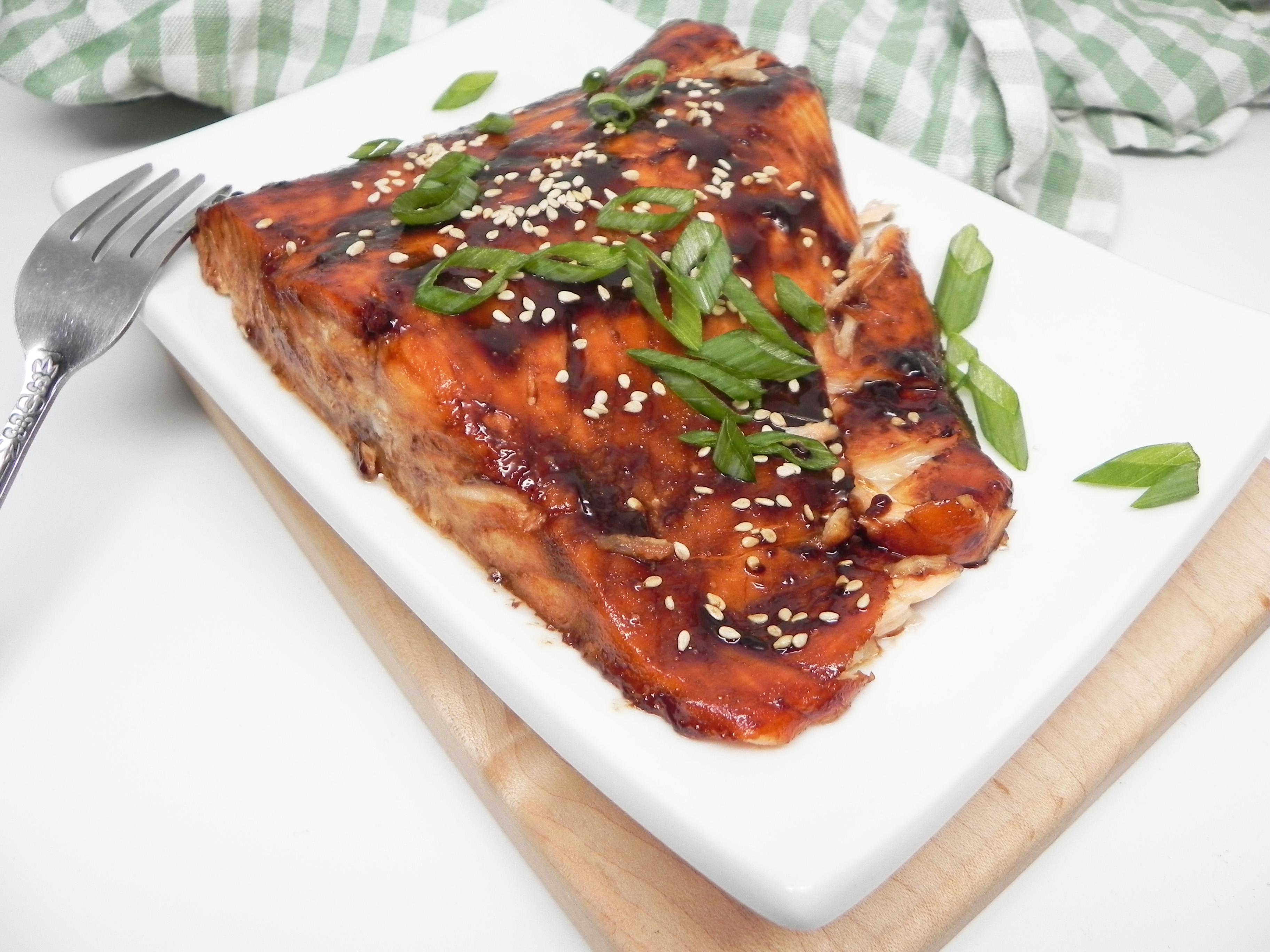 Broiled Salmon with Homemade Teriyaki Glaze