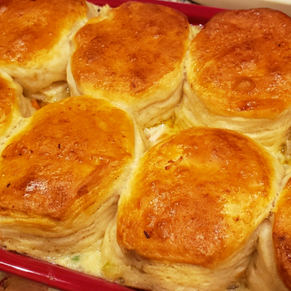 Mom's Fabulous Chicken Pot Pie with Biscuit Crust Emily Diamond