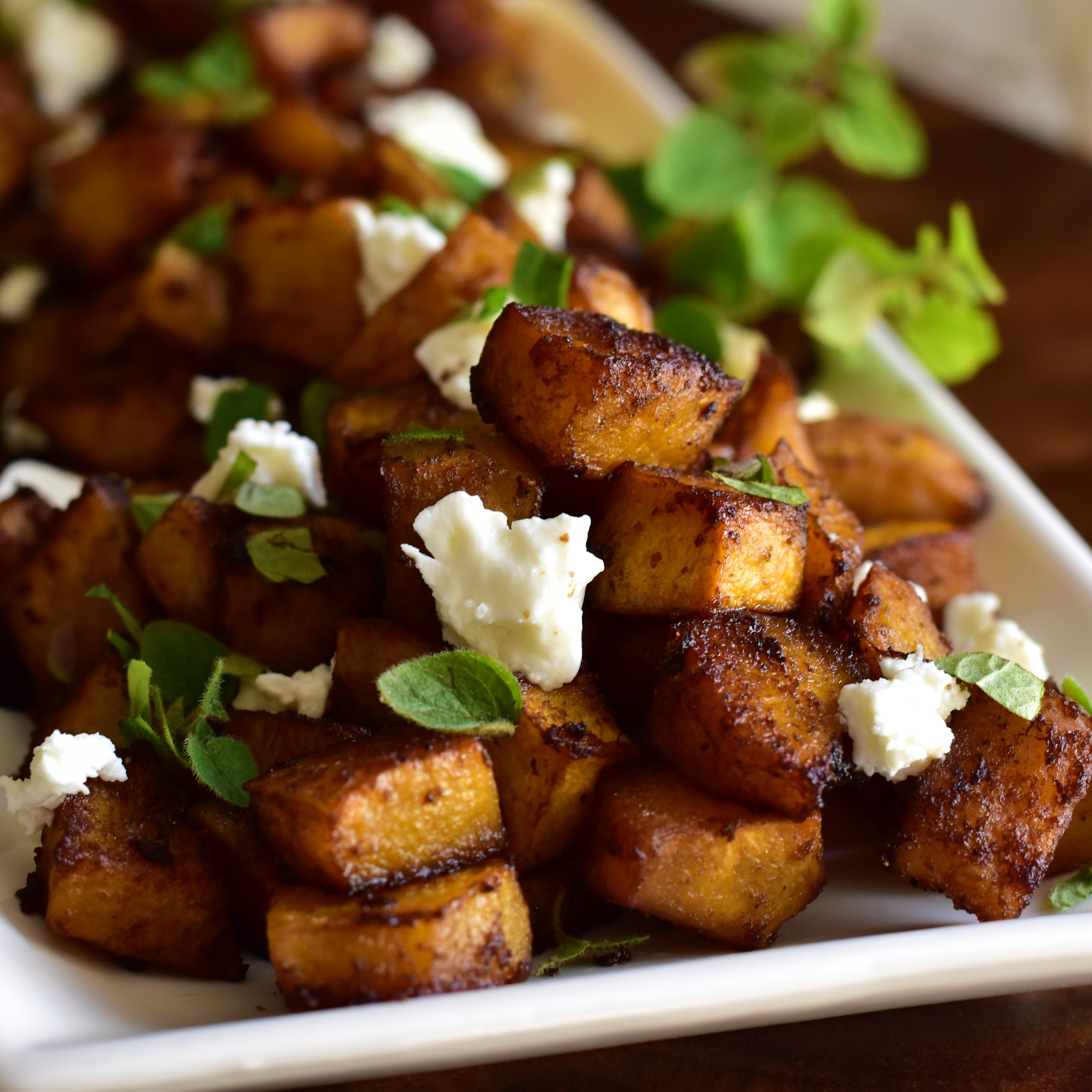 Balsamic-Roasted Pumpkin with Goat Cheese