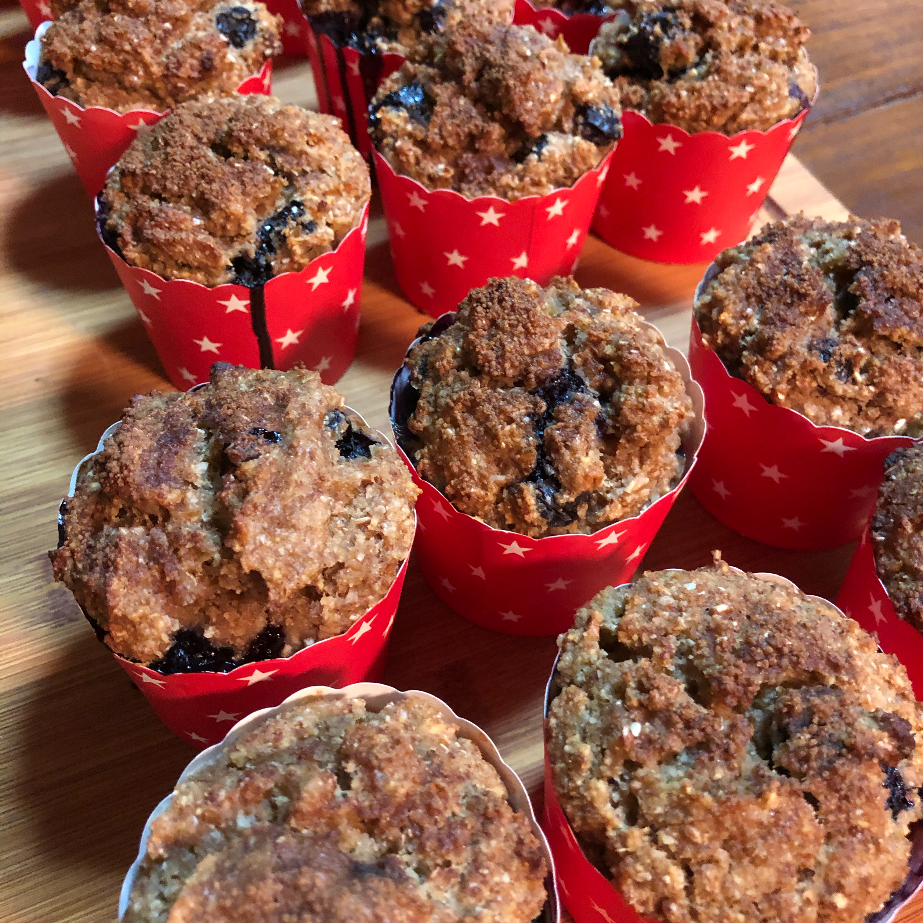 Eggless Blueberry Muffins with Applesauce, Almond Milk, and Almond Flour jinx