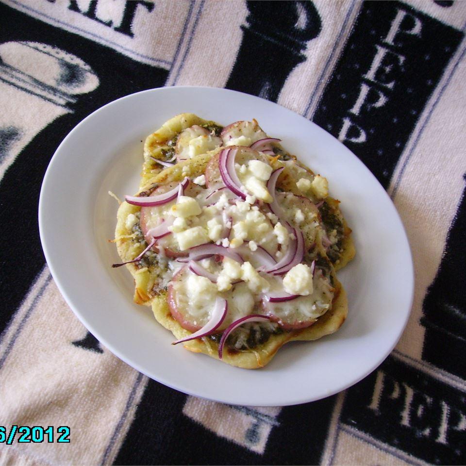 Potato Pesto Feta Pizza Chef John