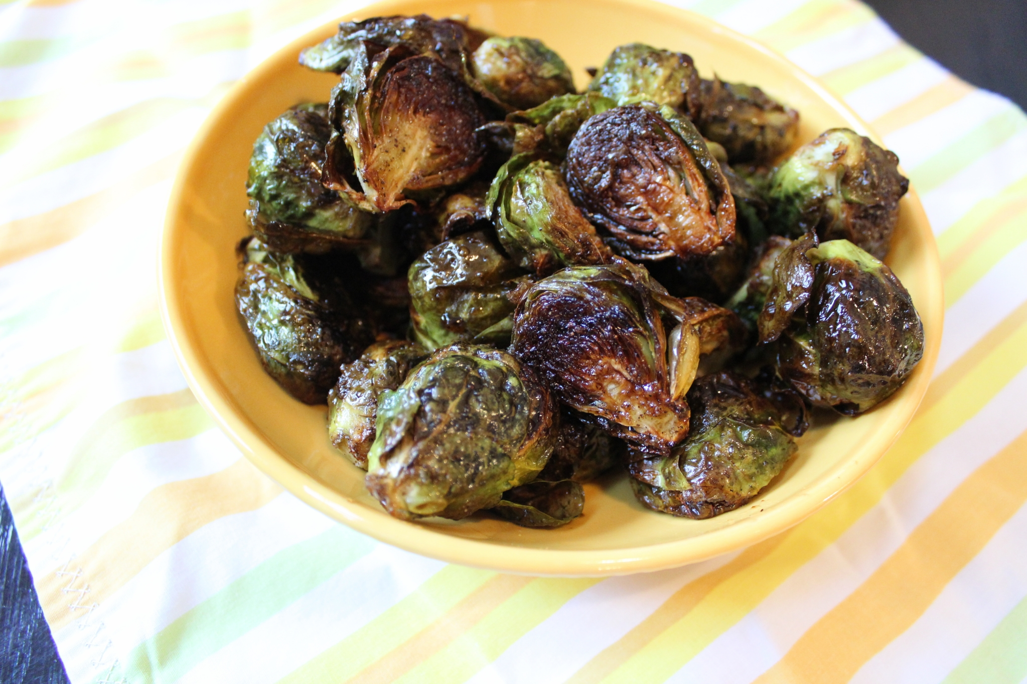 Roasted Brussels Sprouts with Balsamic and Honey Chef Mo