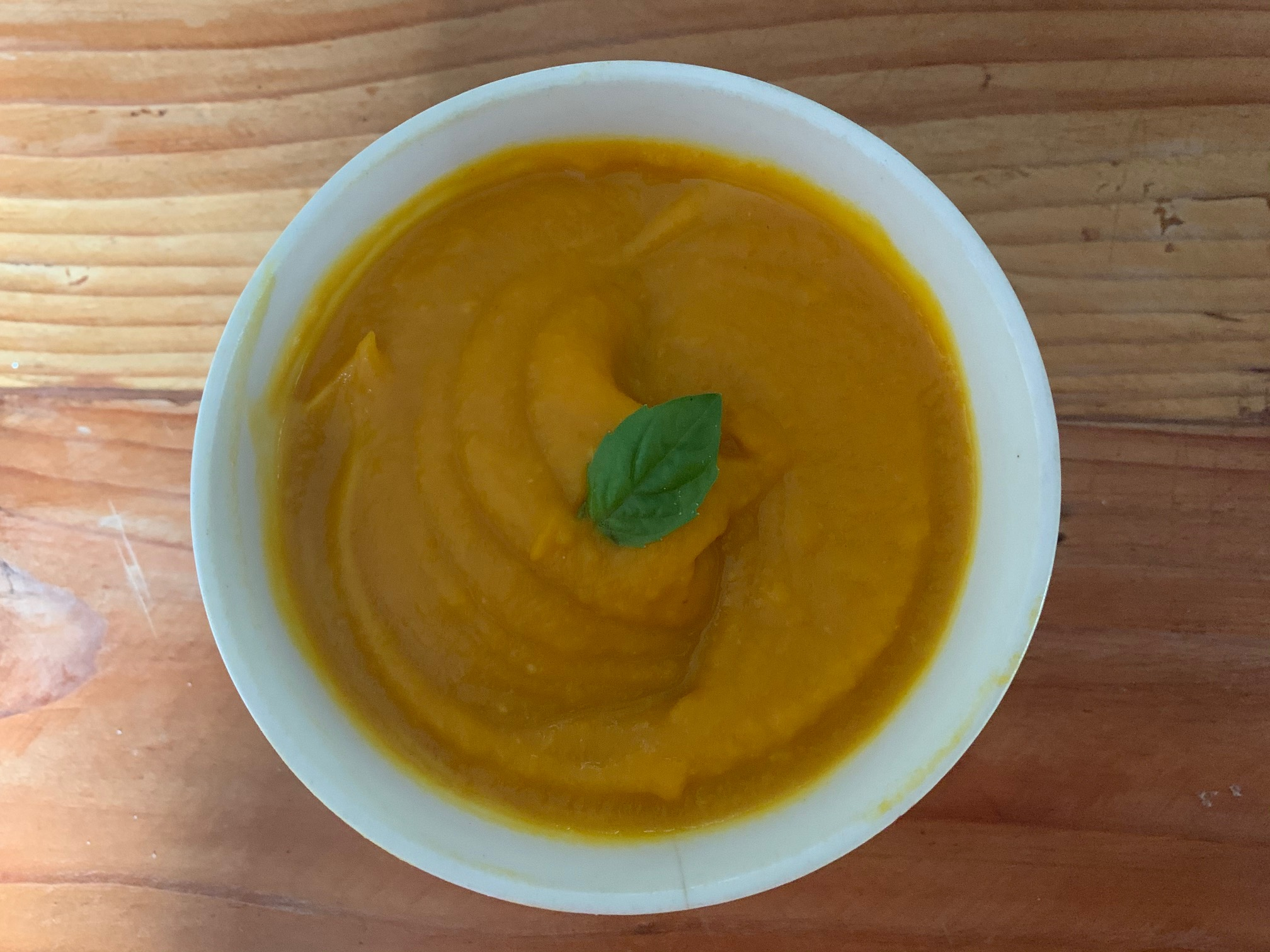 Roasted Pumpkin Soup with Apple and Ginger Lena