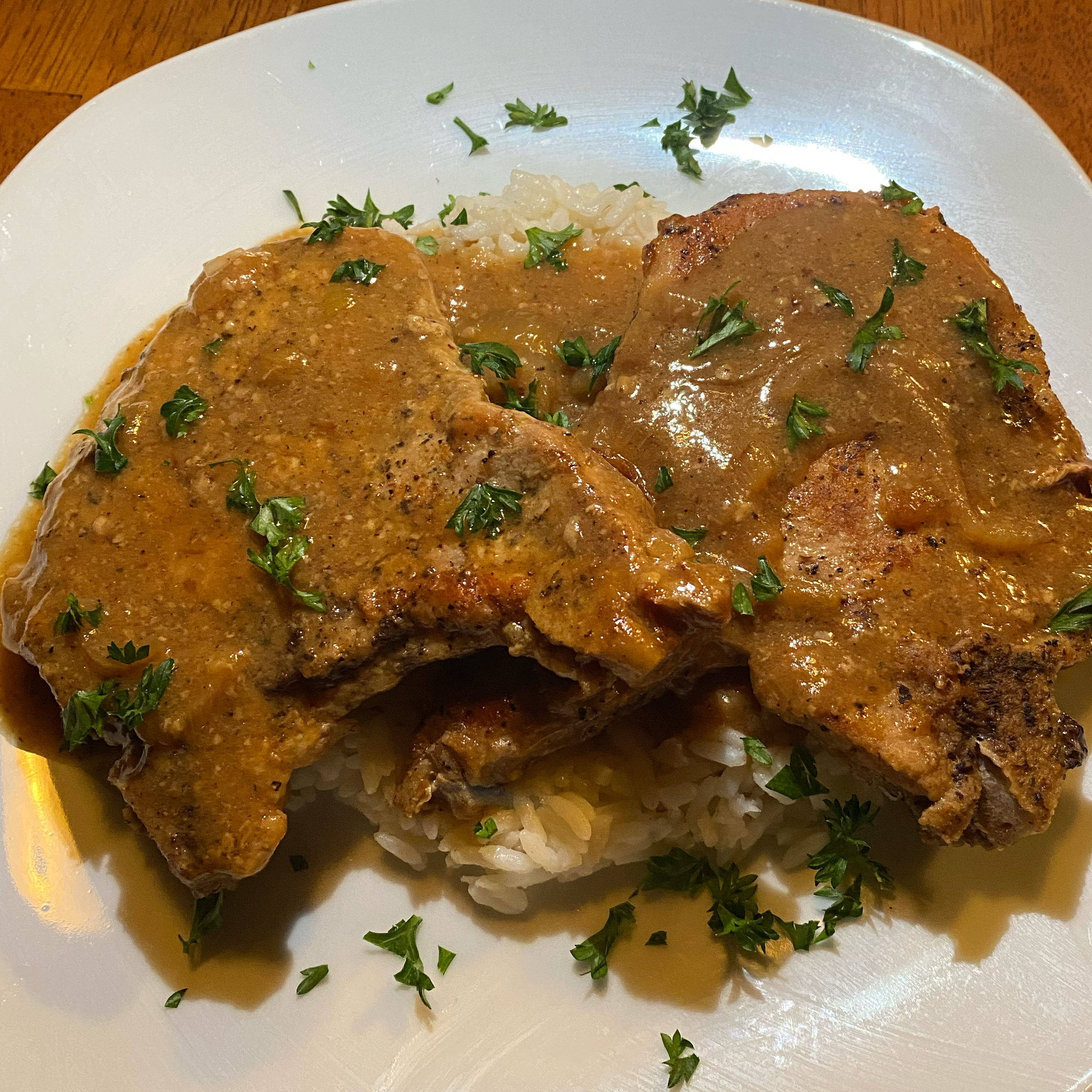 Pork Chops Smothered in Onions and Mushrooms Will B