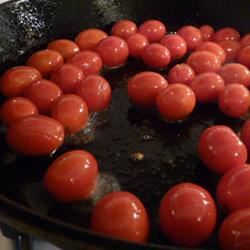 Sauteed Cherry Tomatoes with Garlic and Basil Lucky Noodles