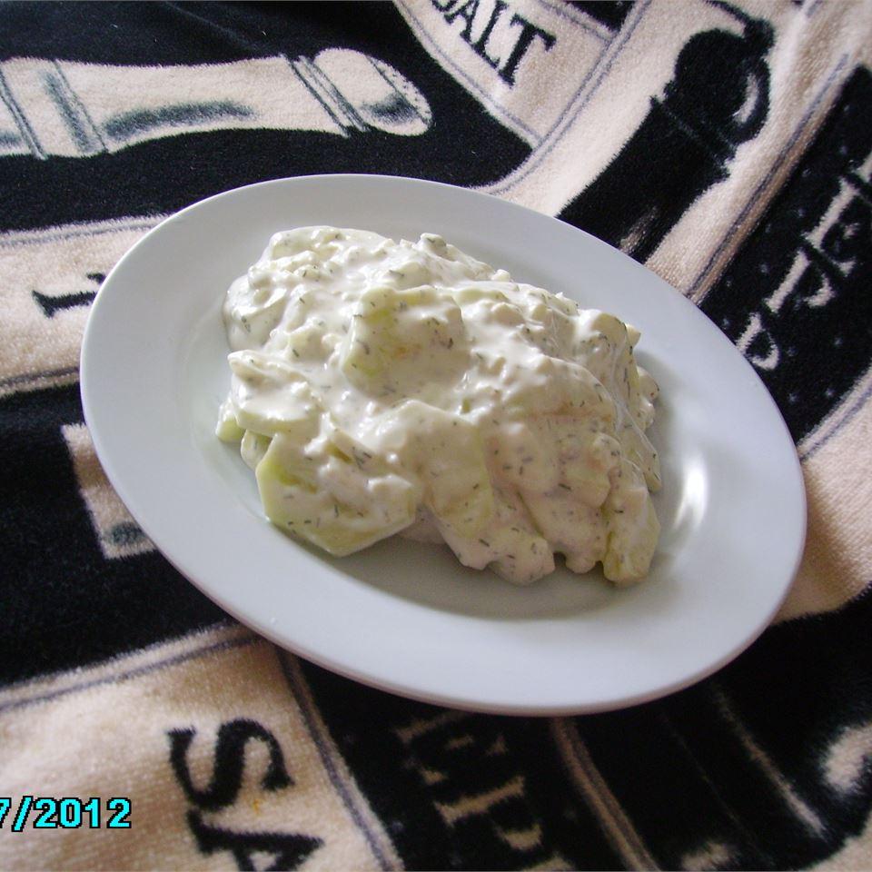 Blue Cucumber Salad Christina