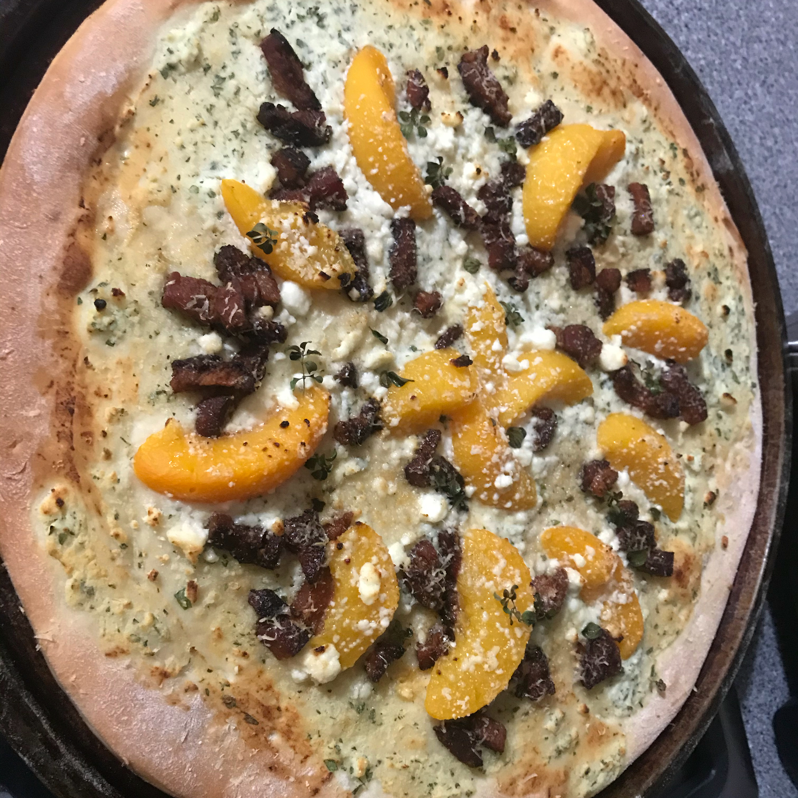 Fried Peach and Pancetta Pizza Marcielynne12
