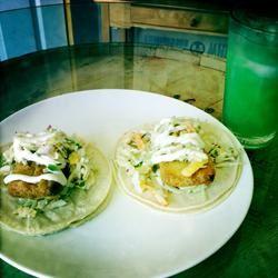 Easy Fish Tacos with Mango-Pineapple Slaw J. Weir