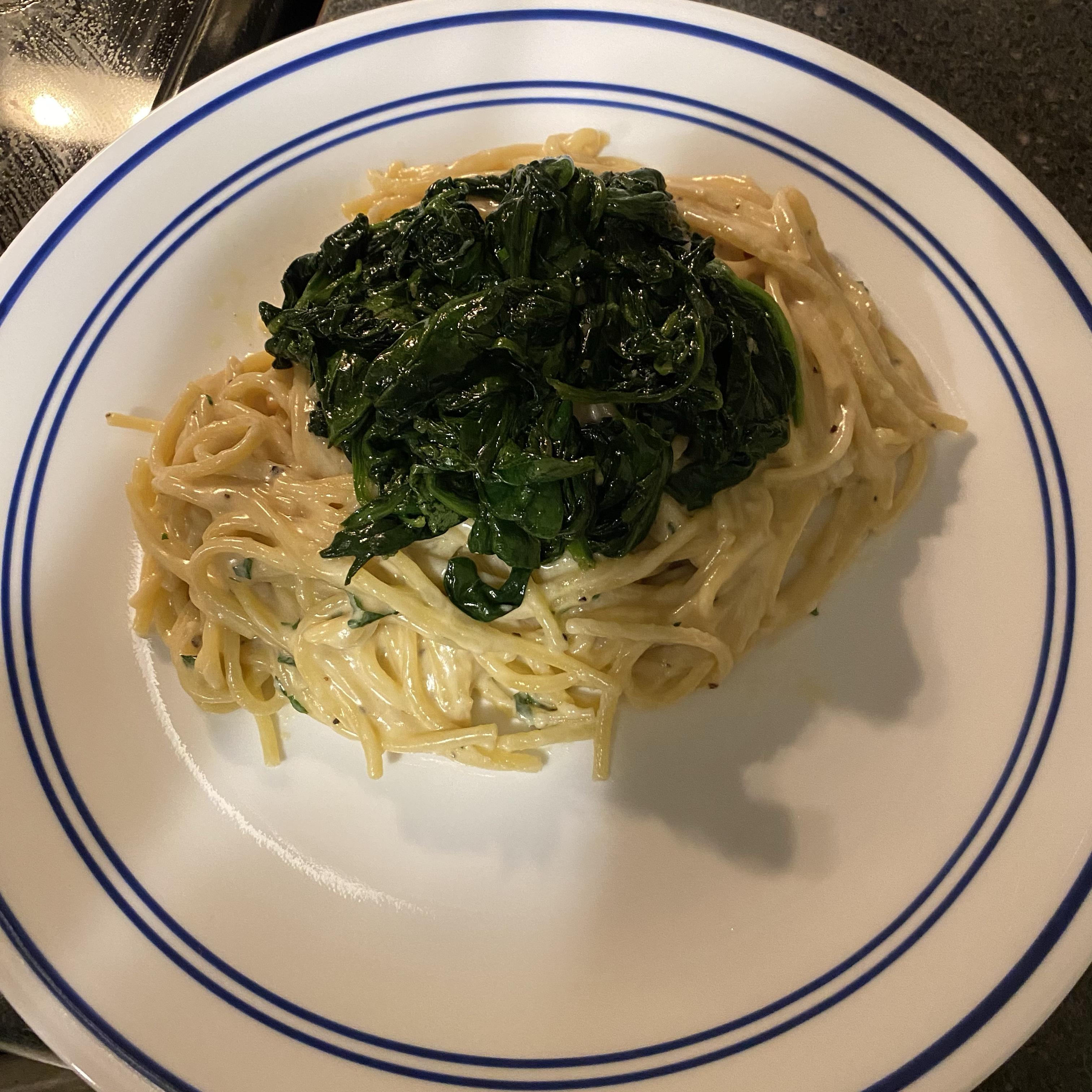 Creamy Garlic Pasta Katie H.