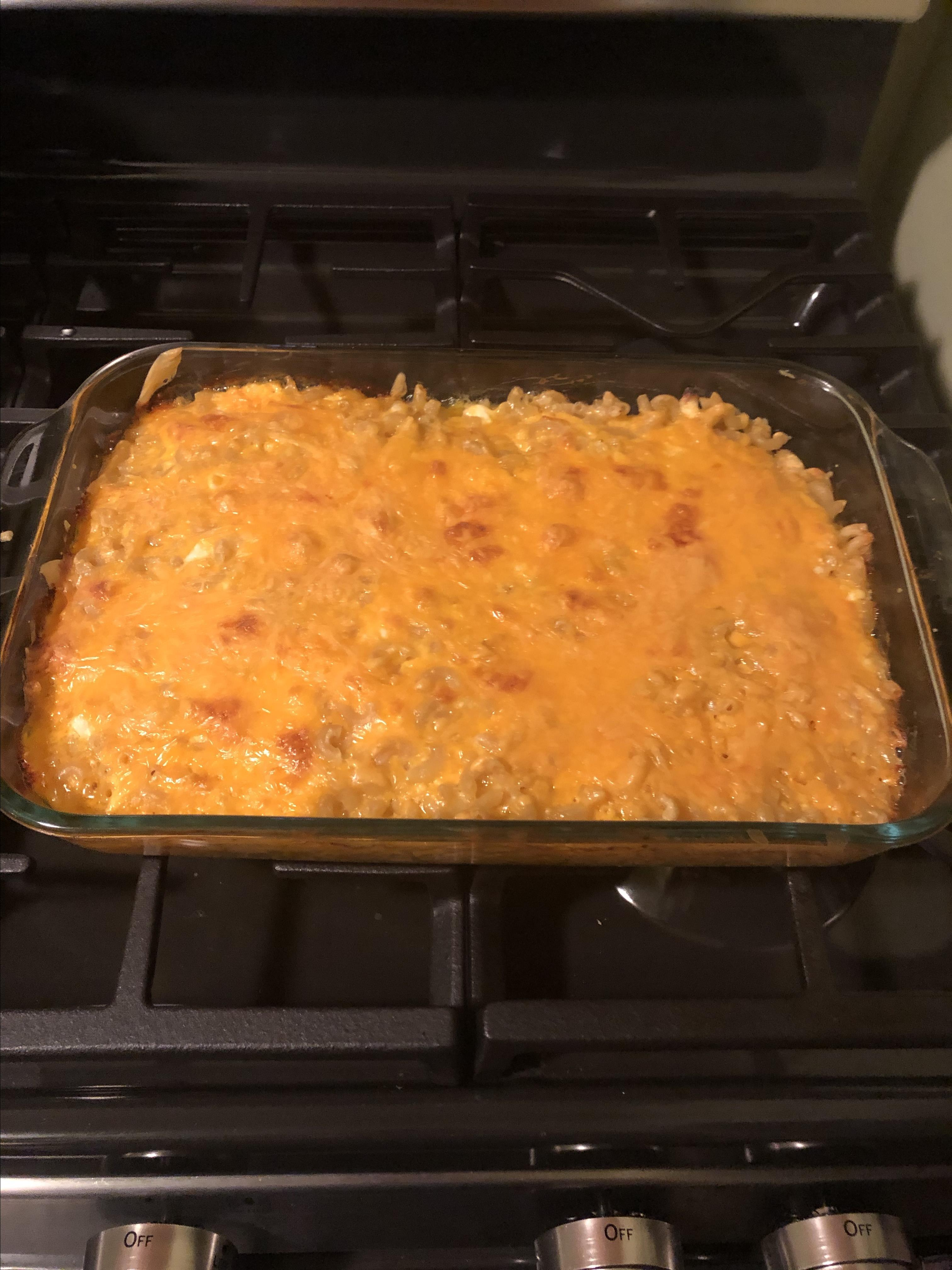 Baked Mac and Cheese with Sour Cream and Cottage Cheese TINA99999