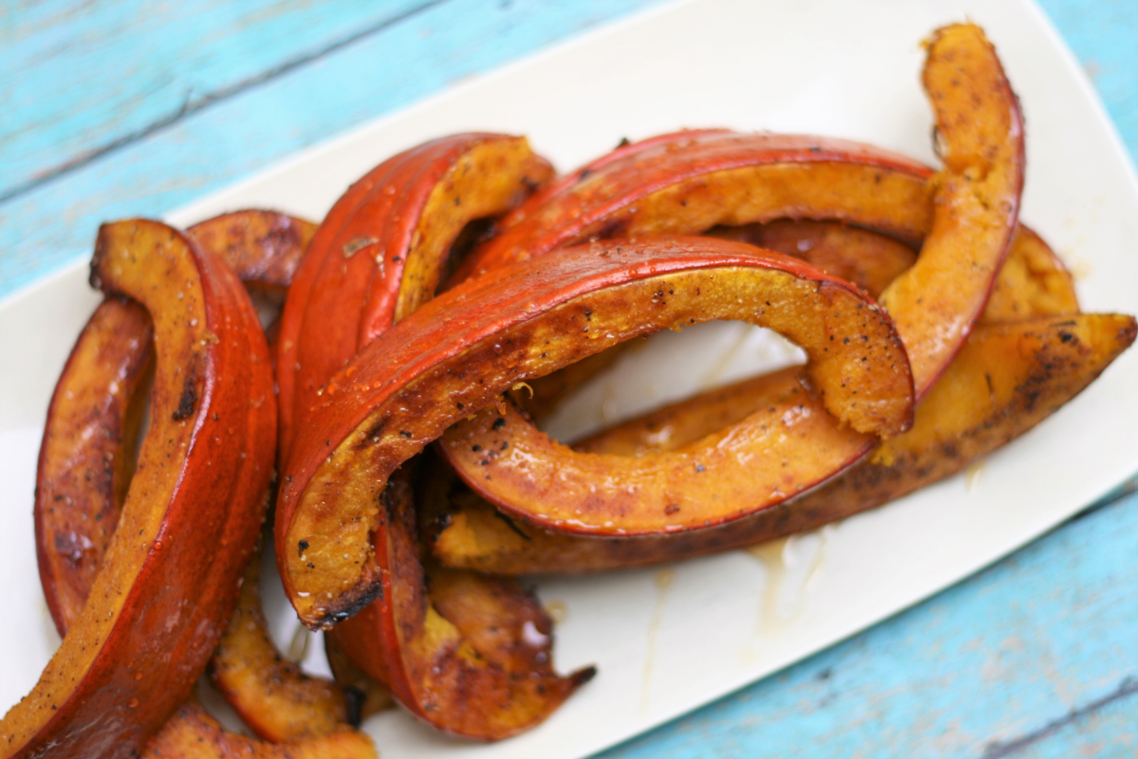 Roasted Pumpkin Wedges with Hot Honey