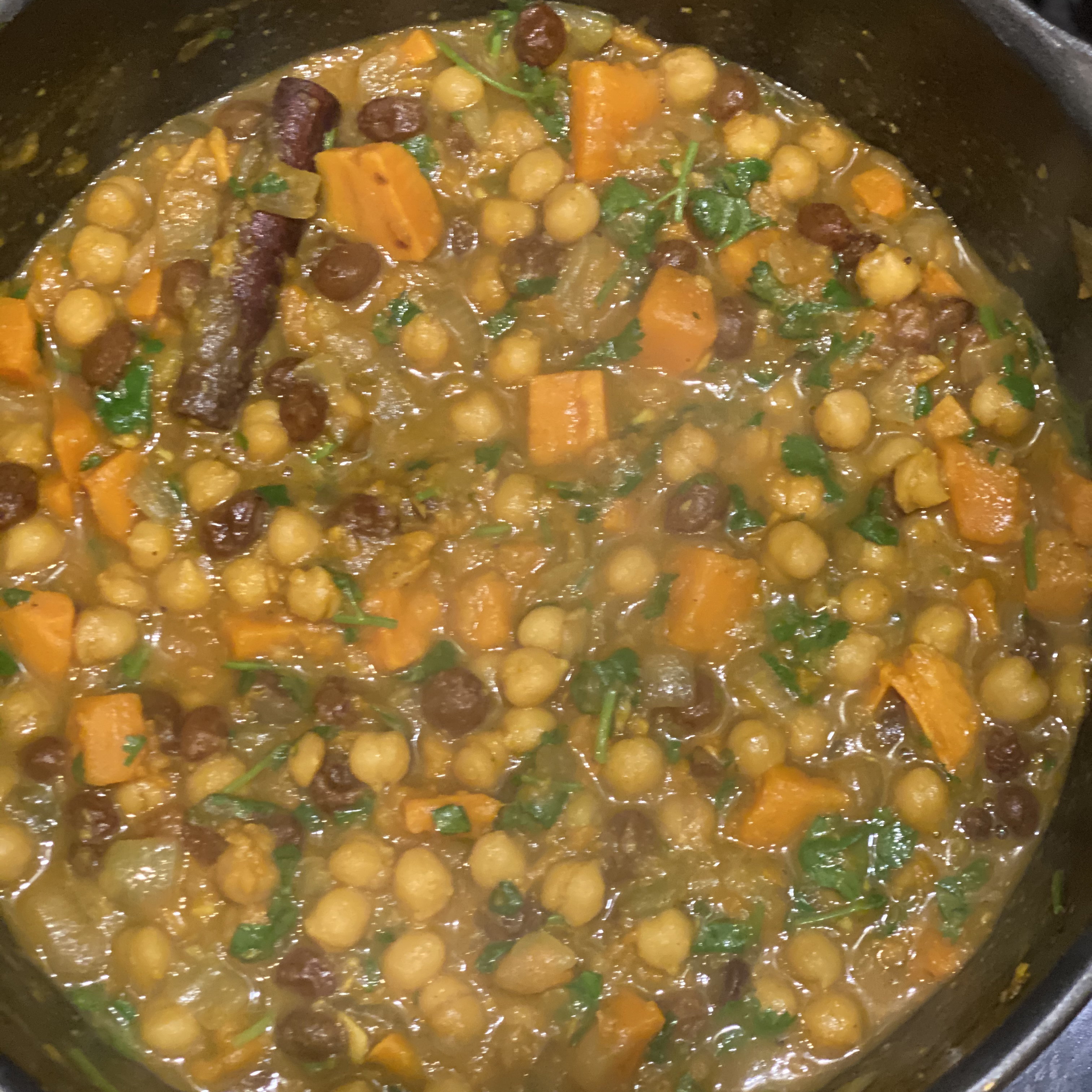 Delicious Chickpea Curry Summer421