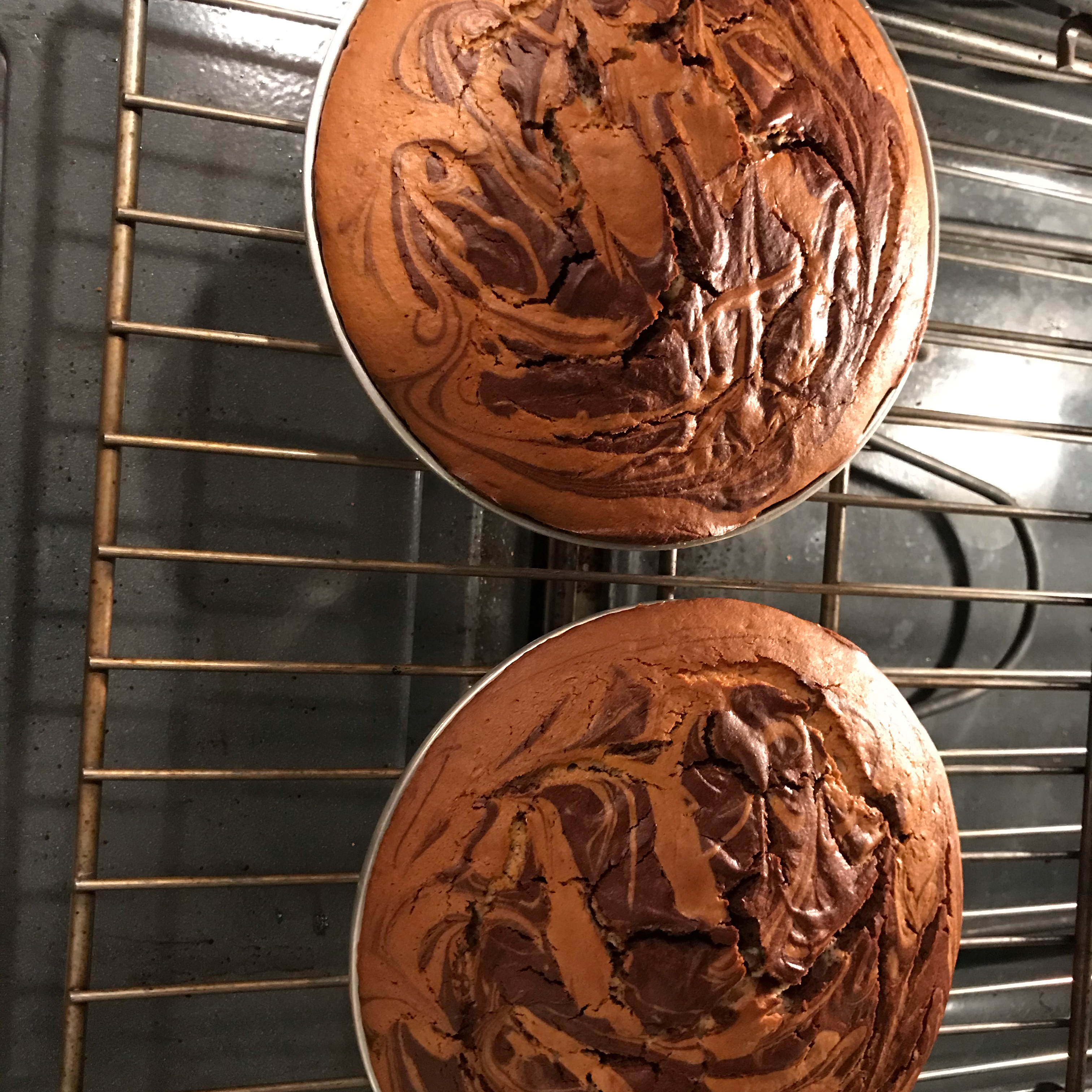 Chocolate Peanut Butter Marble Cake