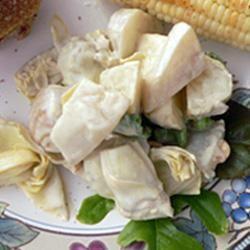 White Beet and Artichoke Heart Salad