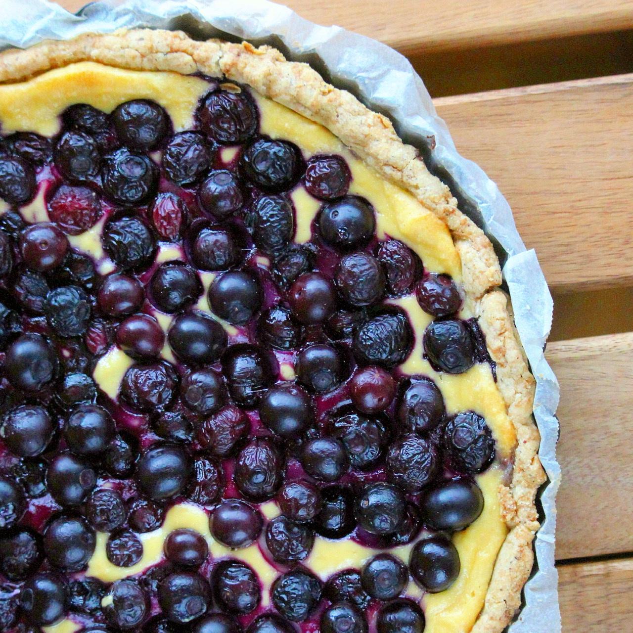 Gluten-Free Blueberry and Sweet Ricotta Crostata