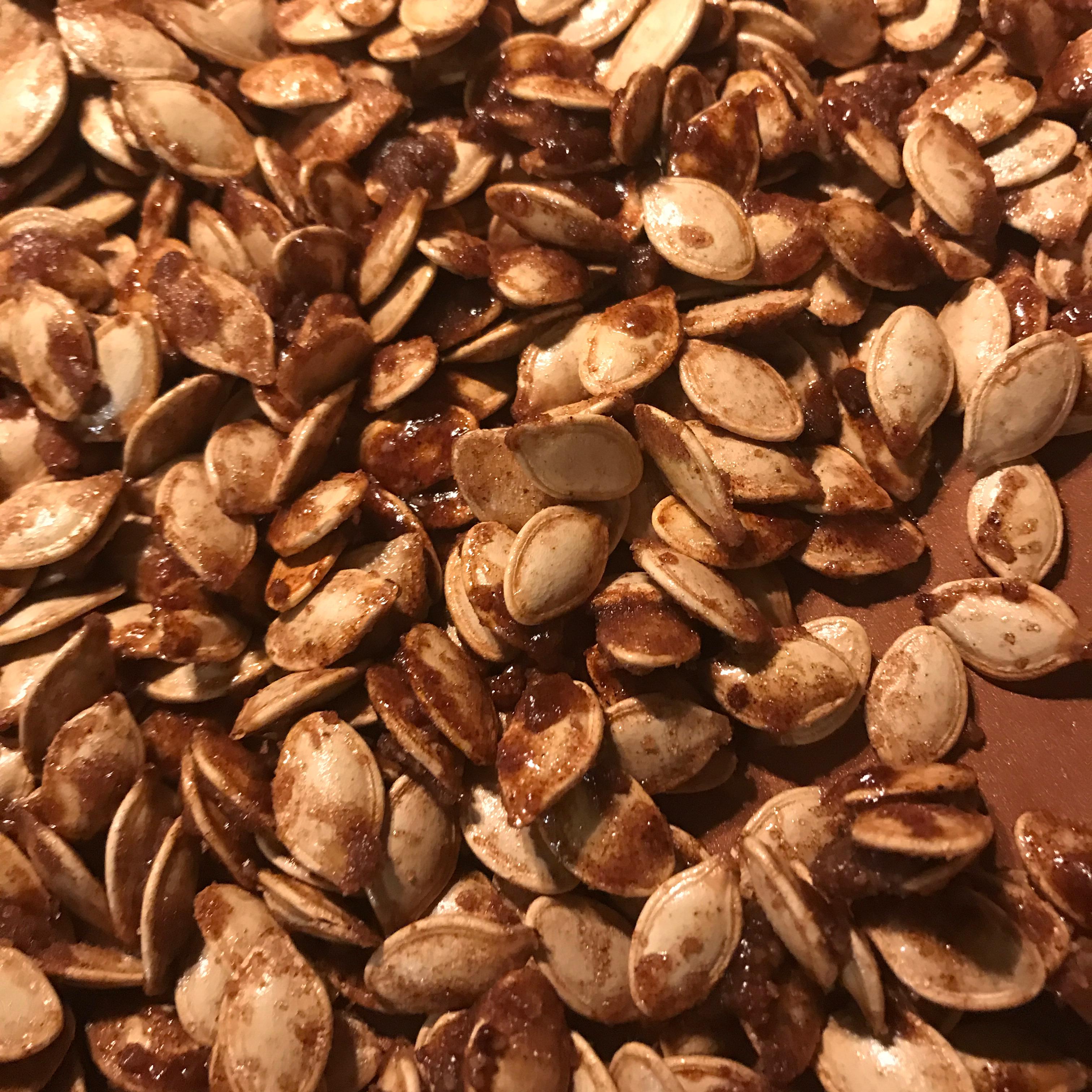 Caramelized Spicy Pumpkin Seeds Melissa Luebbe