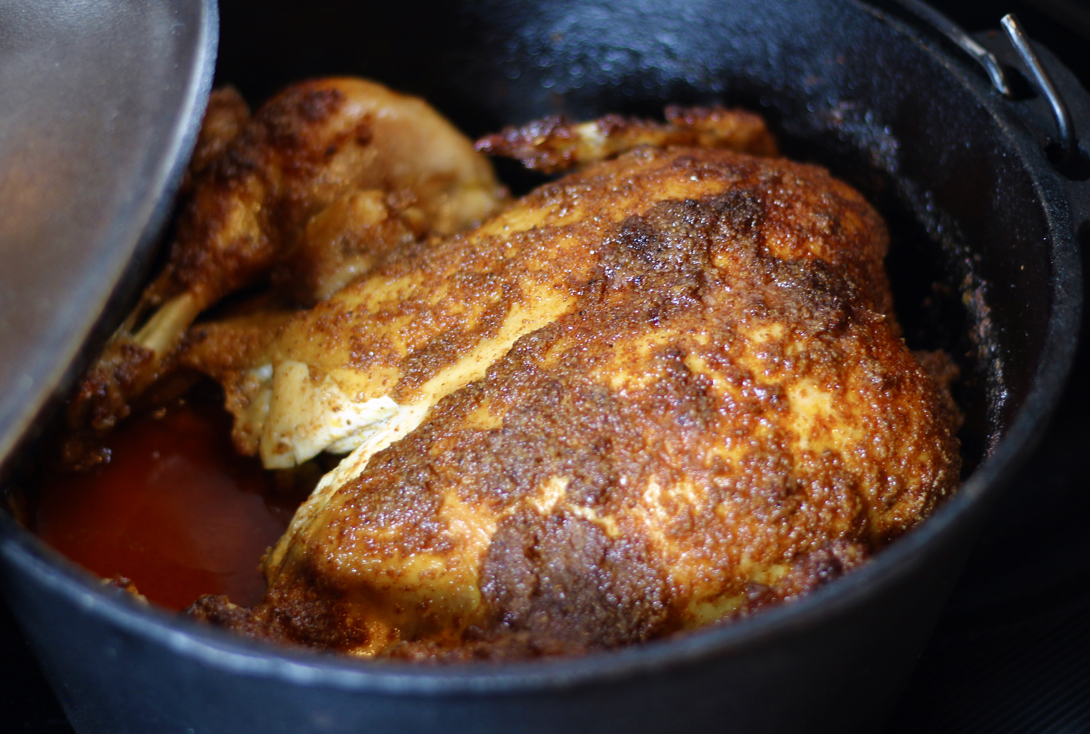 Dutch Oven Whole Roast Chicken