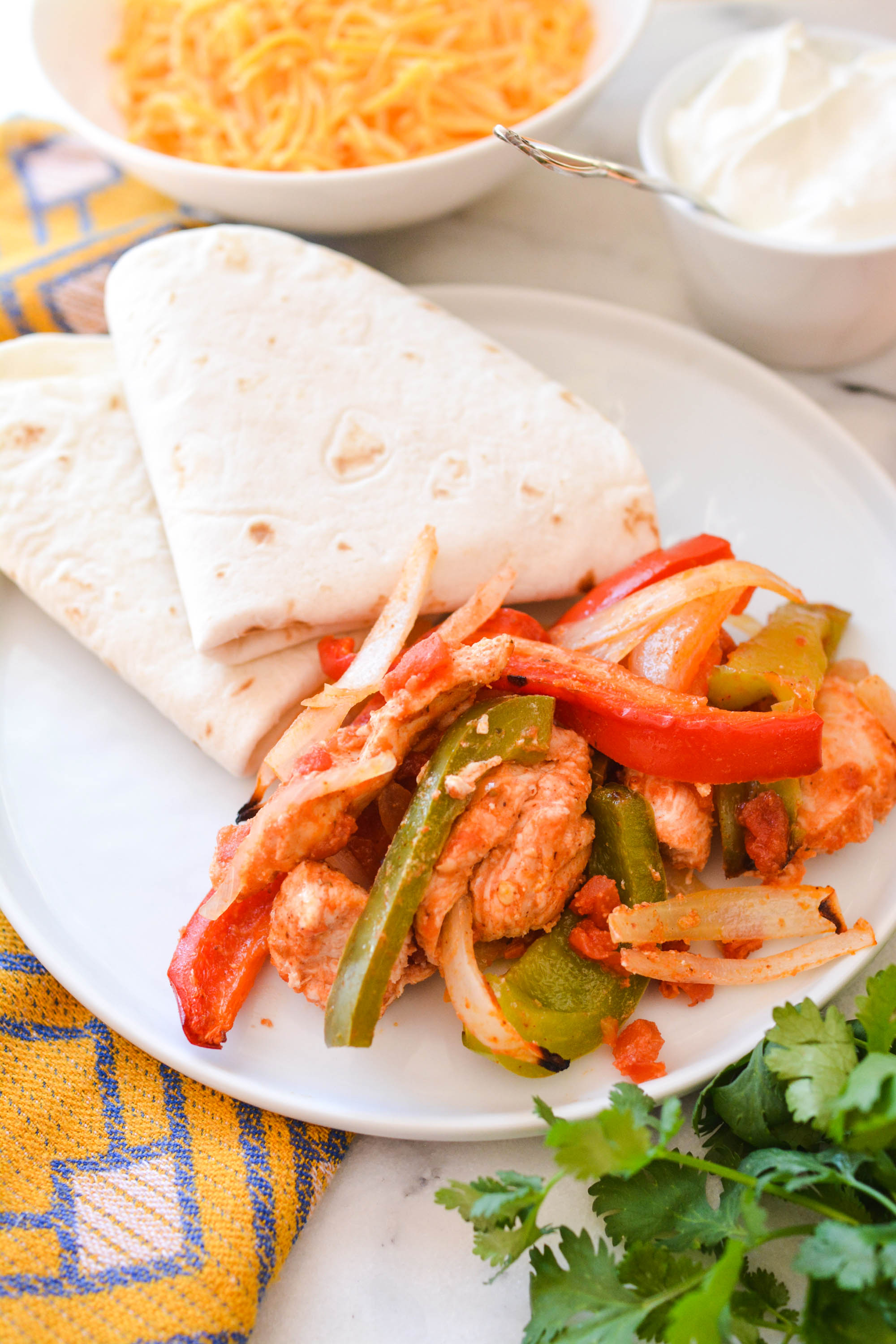 Quick and Easy Baked Chicken Fajitas Cupcakes and Cutlery