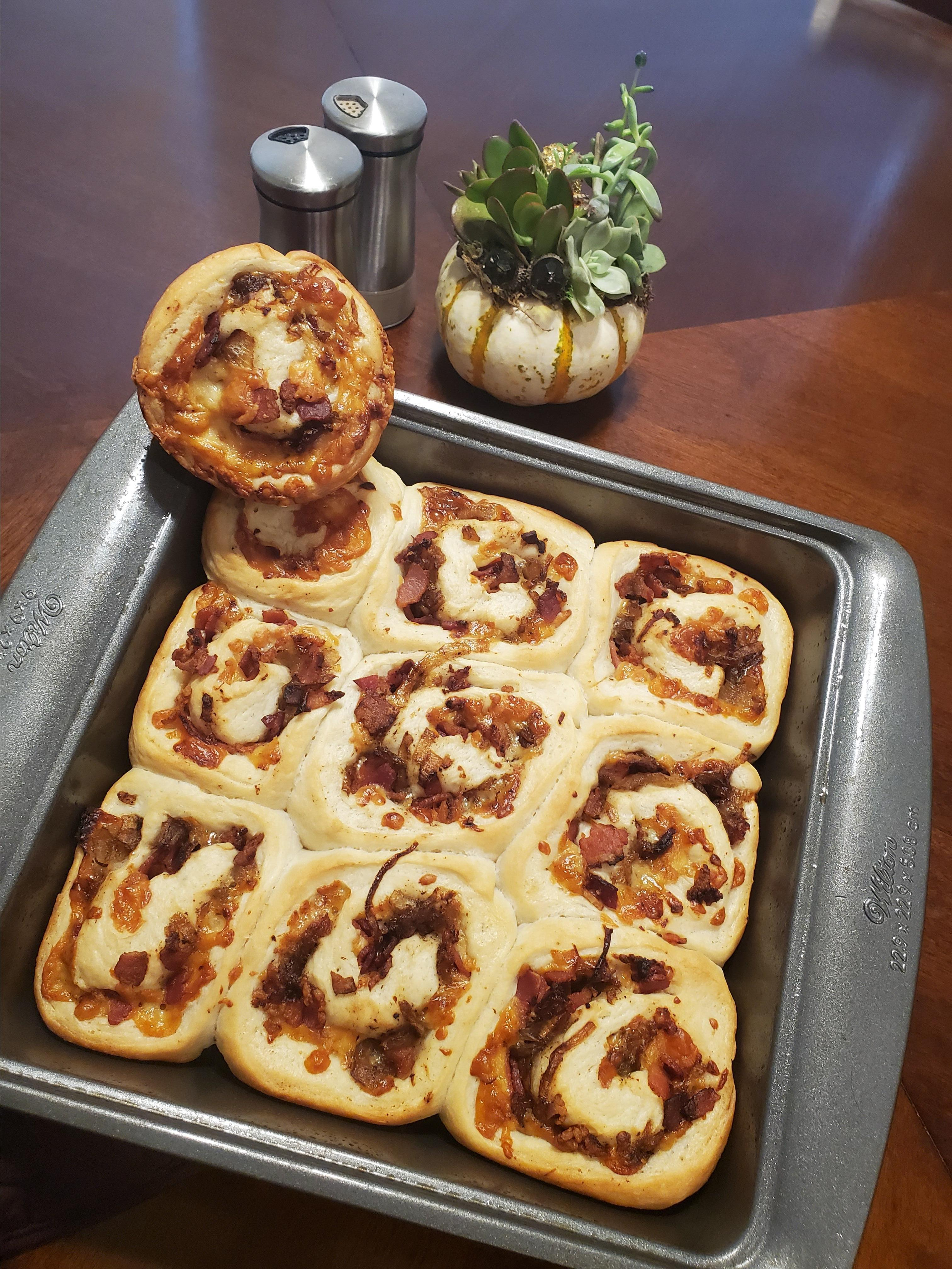 Bacon and Caramelized Onion Rolls