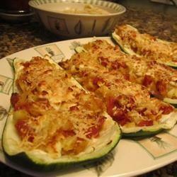 Pepperoni Stuffed Zucchini Michele Hauenstein