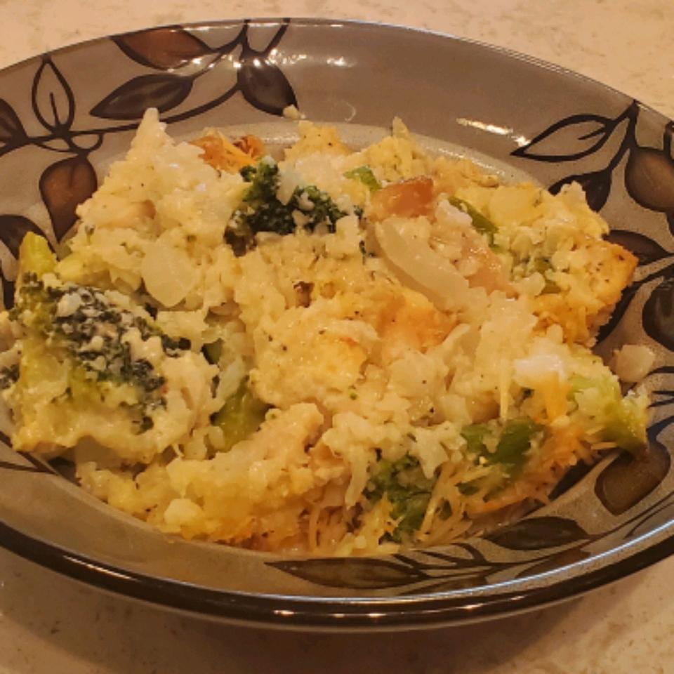 Chicken and Broccoli Cauli Rice Casserole