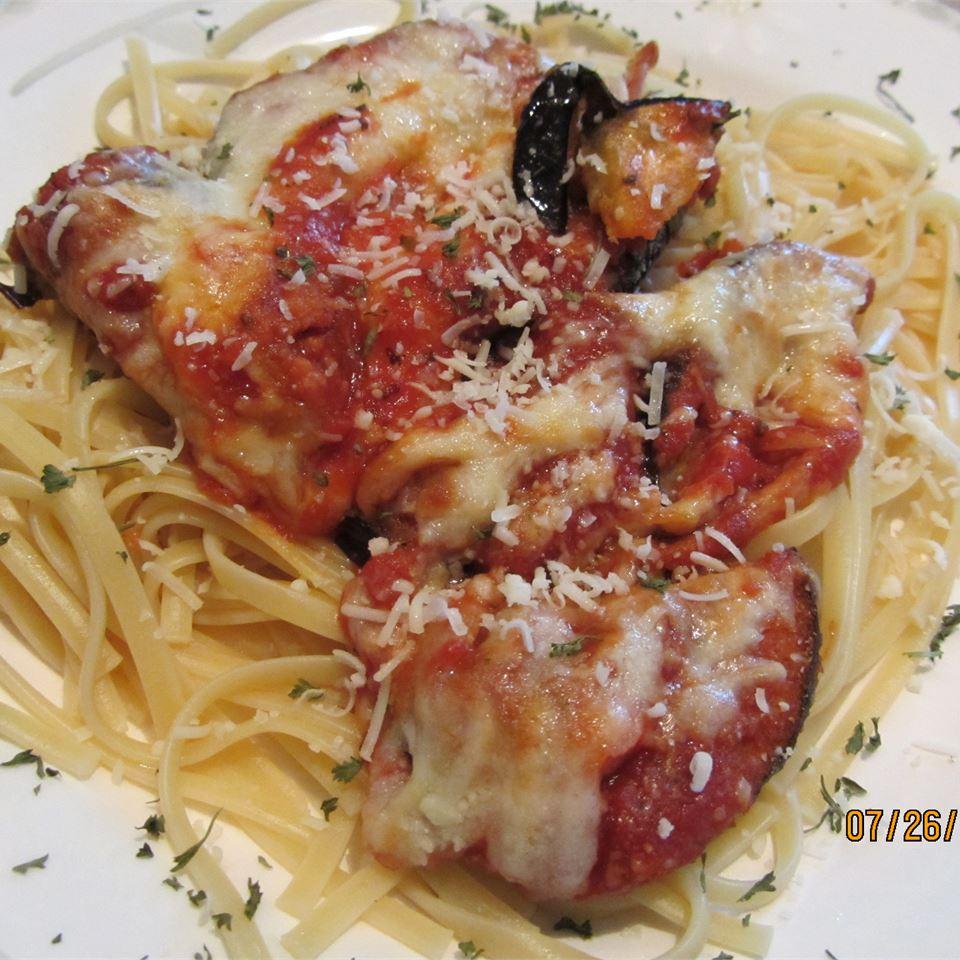 Eggplant Parmesan With Easy Homemade Sauce Daisy Mae