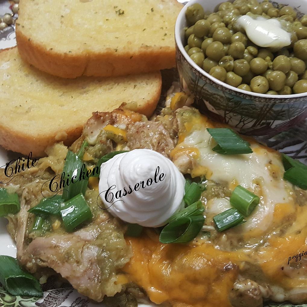 Green Chile Chicken Casserole Peggianne