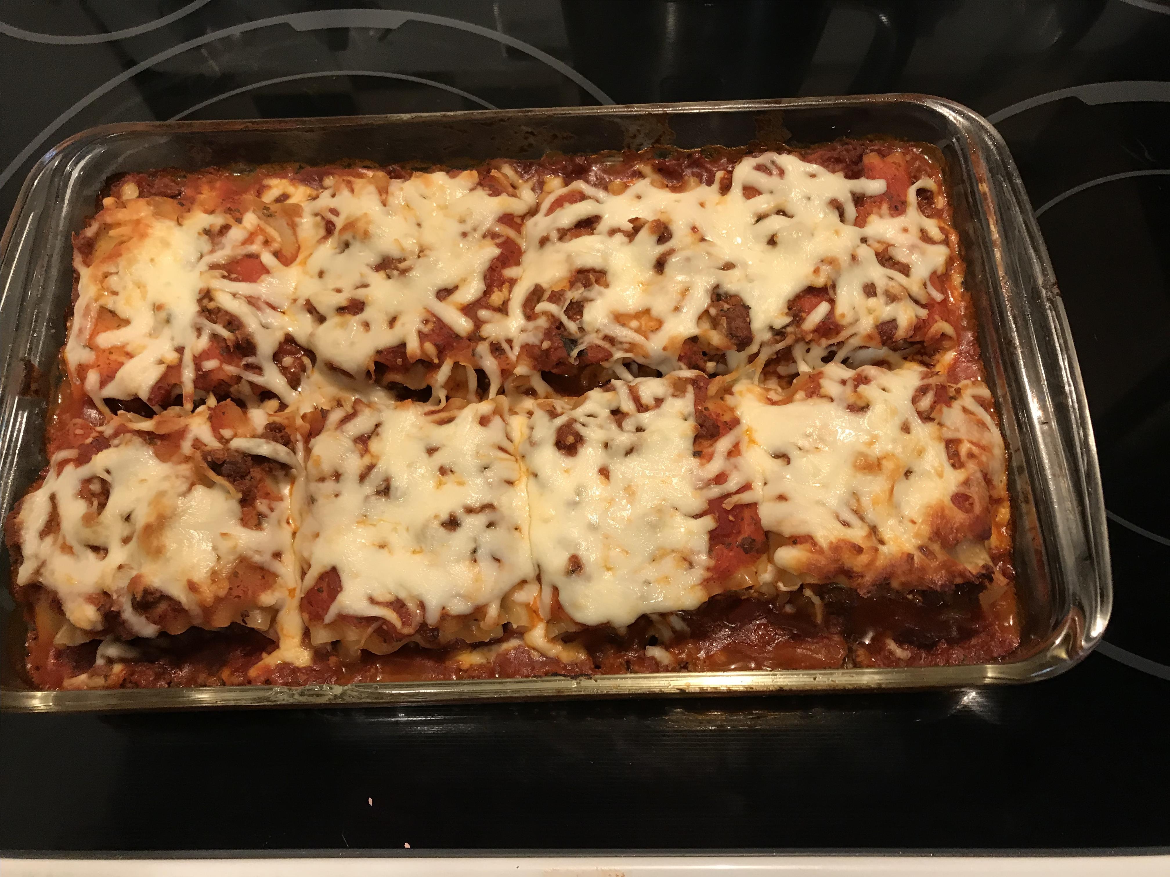 Beefy Lasagna Roll-Ups Janet Huller Sym