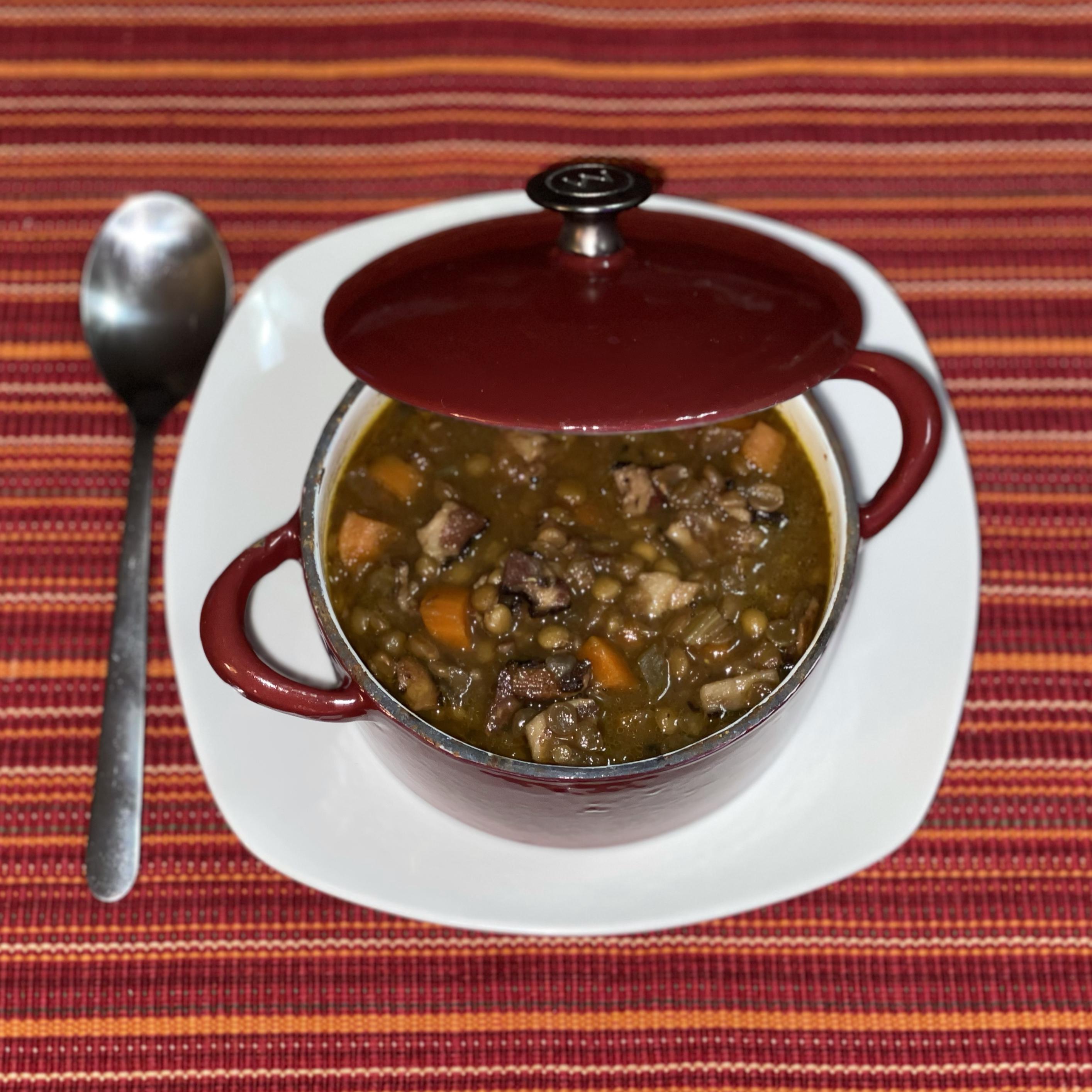 Beer and Maple Lentil Stew B. Tario