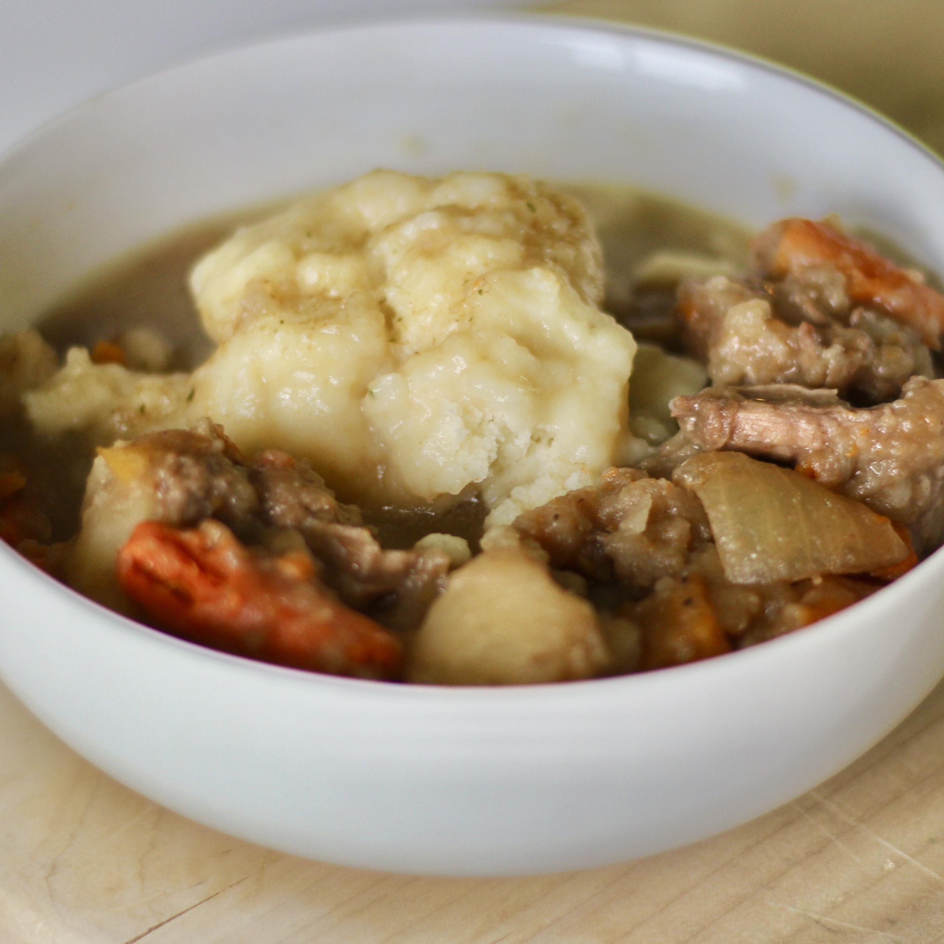 Mom's Hearty Beef Stew with Dumplings