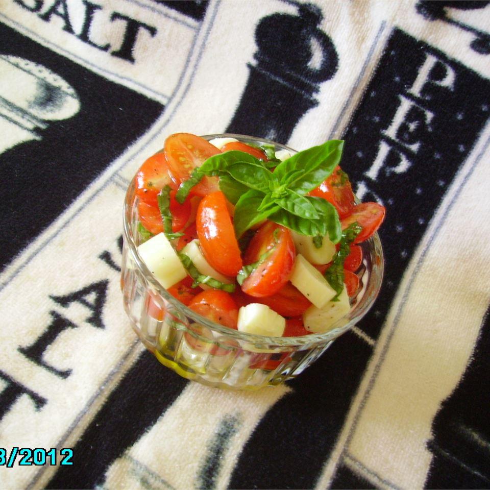 Smiling Caprese Salad Christina