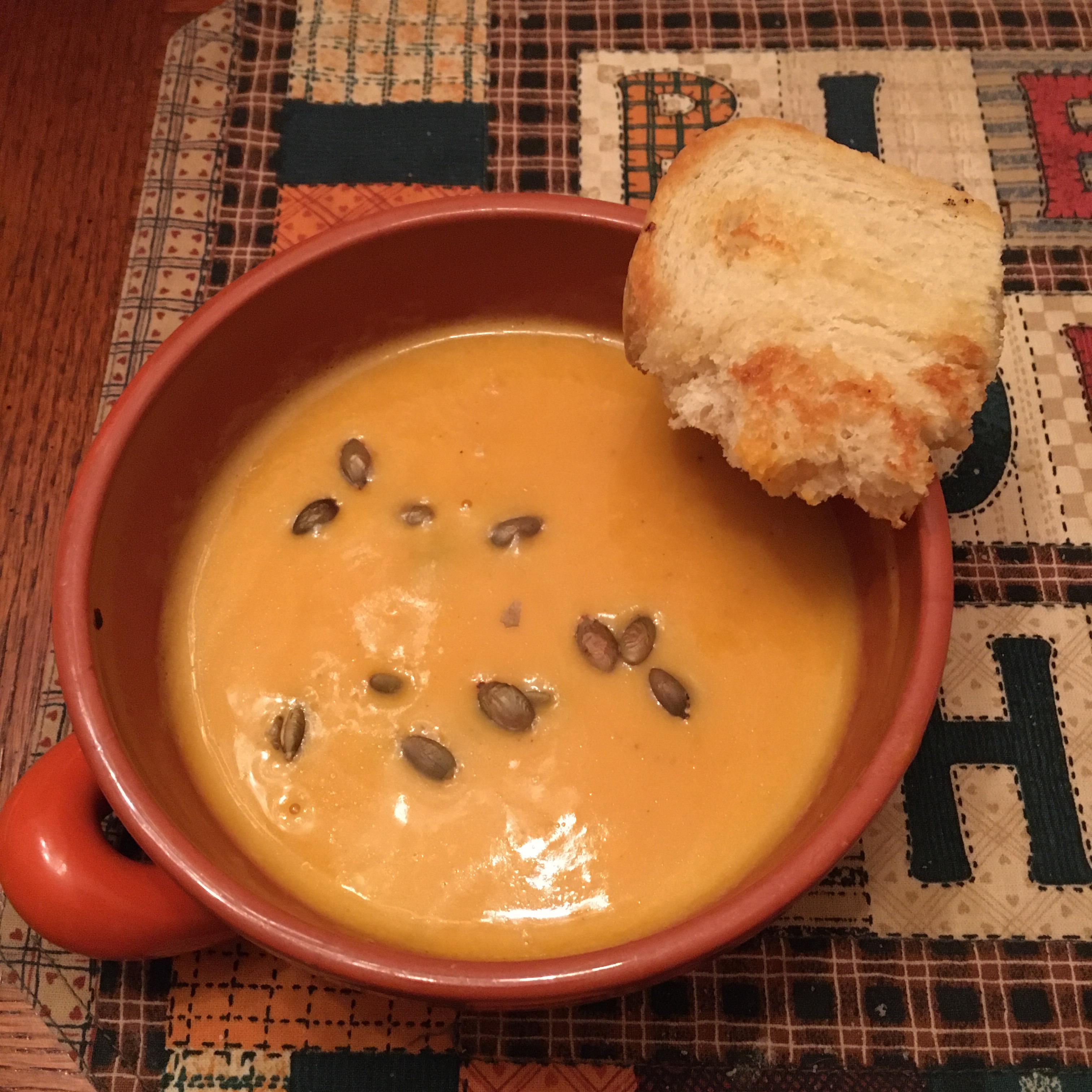 Butternut and Acorn Squash Soup