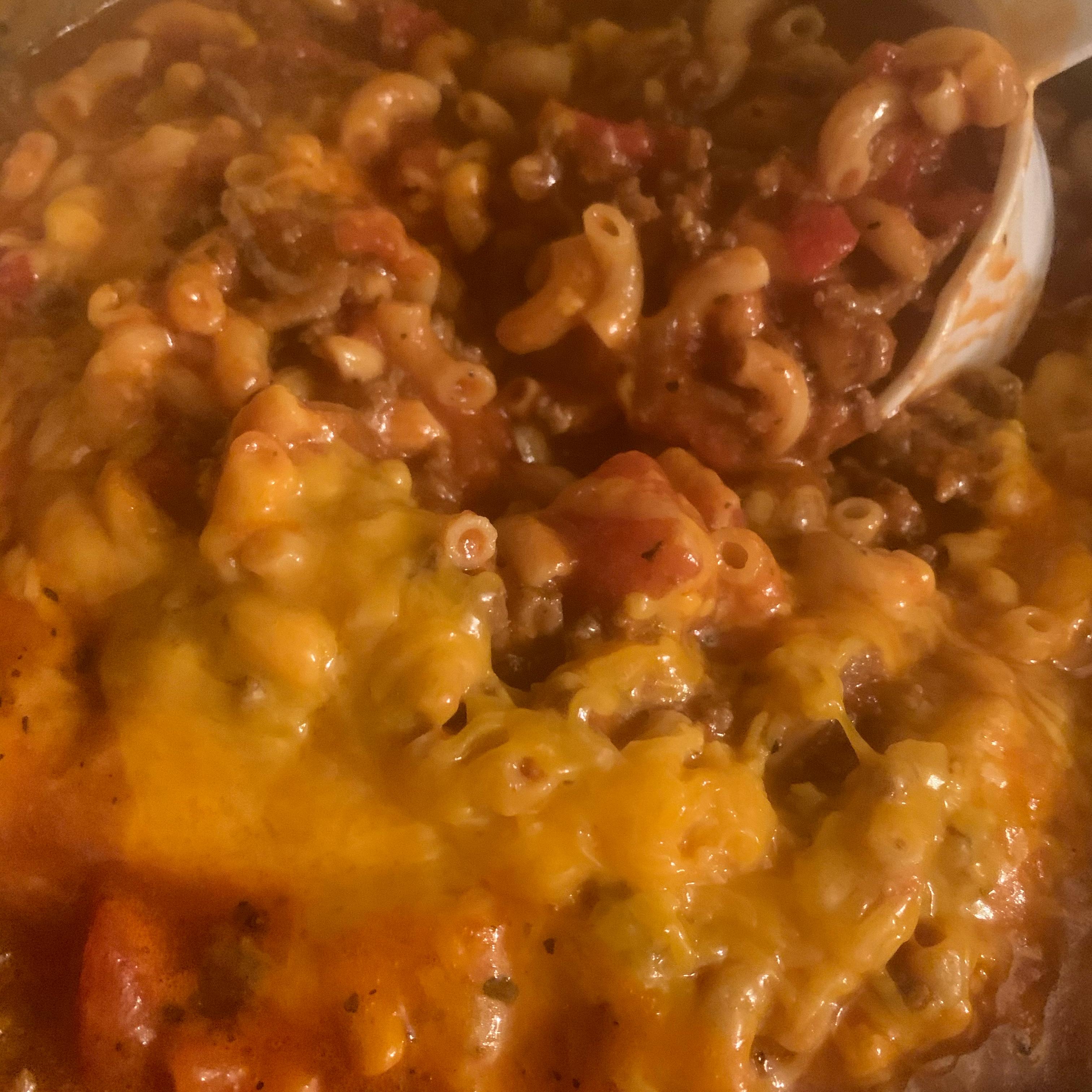 Hamburger and Macaroni Hot Dish