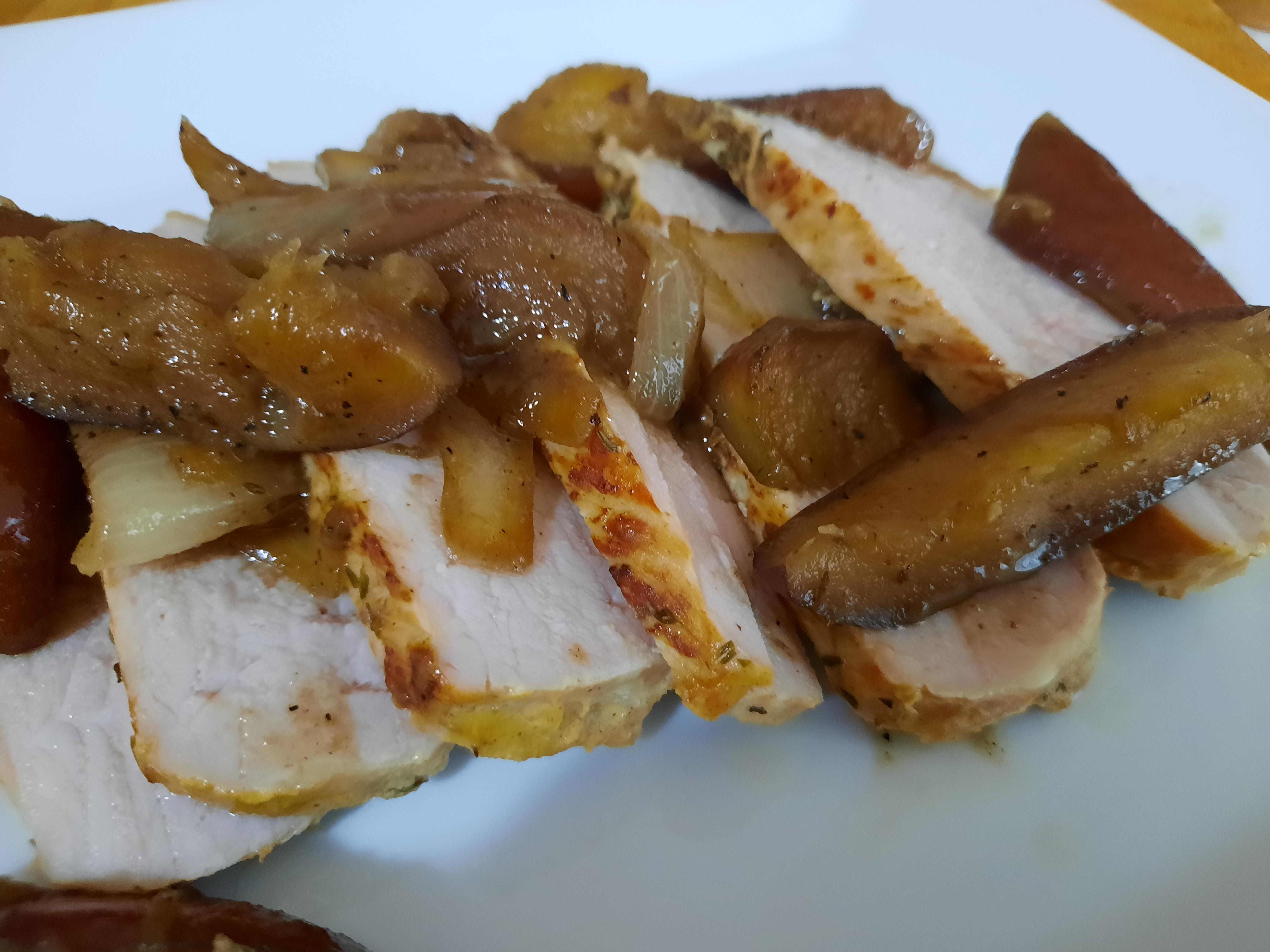 Pork Tenderloin with Apples and Onions Bob Jones