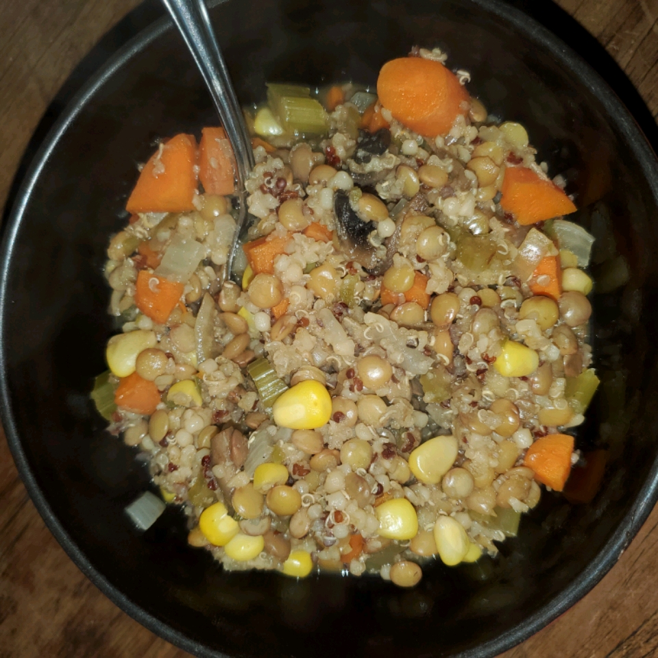 Spicy Vegan Lentil Quinoa Soup Colleen Seal