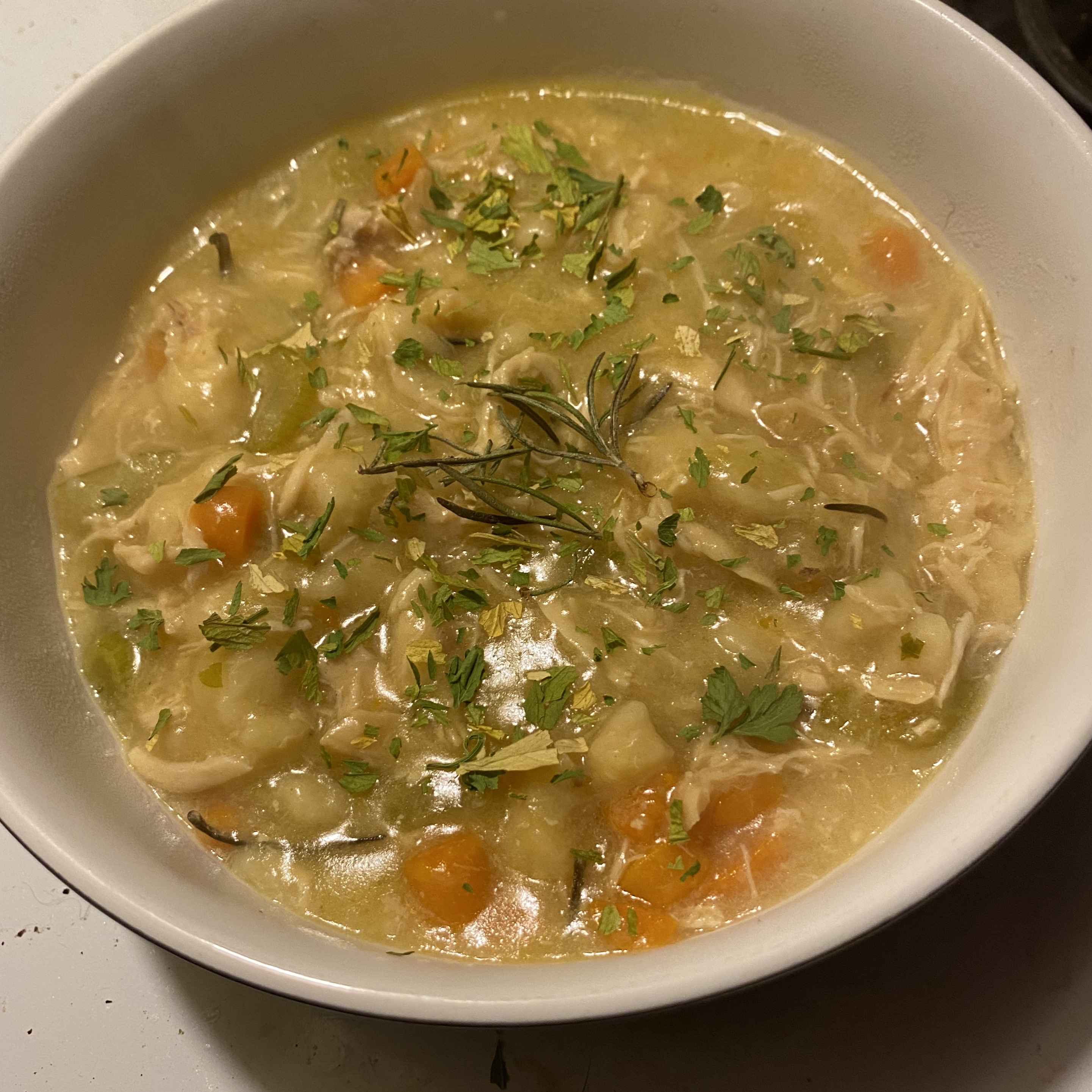 Easy Chicken and Dumplings with Vegetables