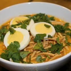 Burmese Chicken-Coconut Soup (Ohn No Kyawswe) Bryan Correia