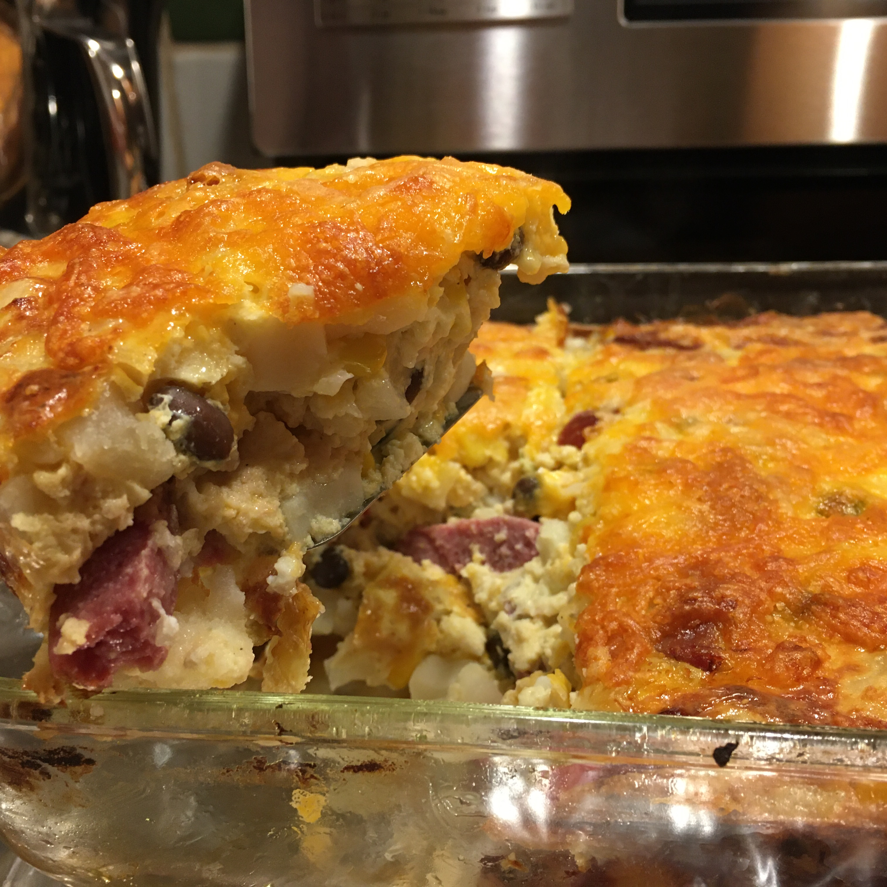 Hash Brown Casserole with Hillshire Farm® Smoked Sausage mad2cook