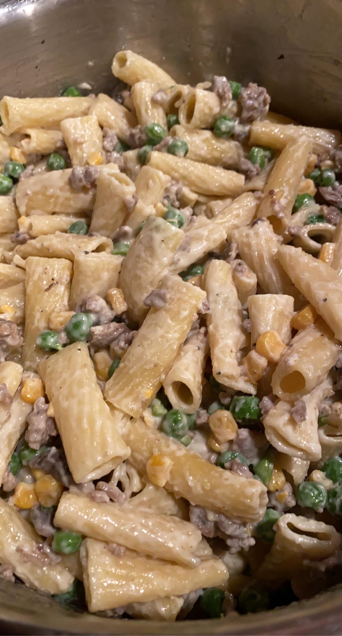 Pasta with Peas and Sausage