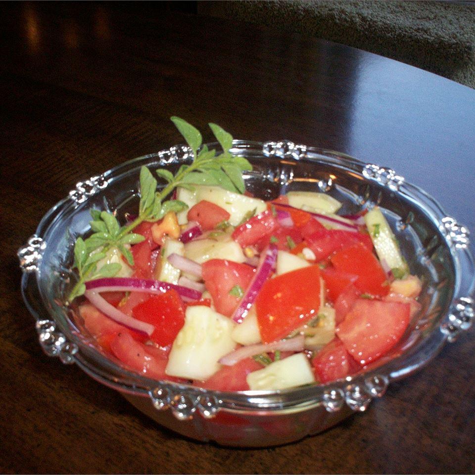 Italian Tomato Cucumber Salad Deb C