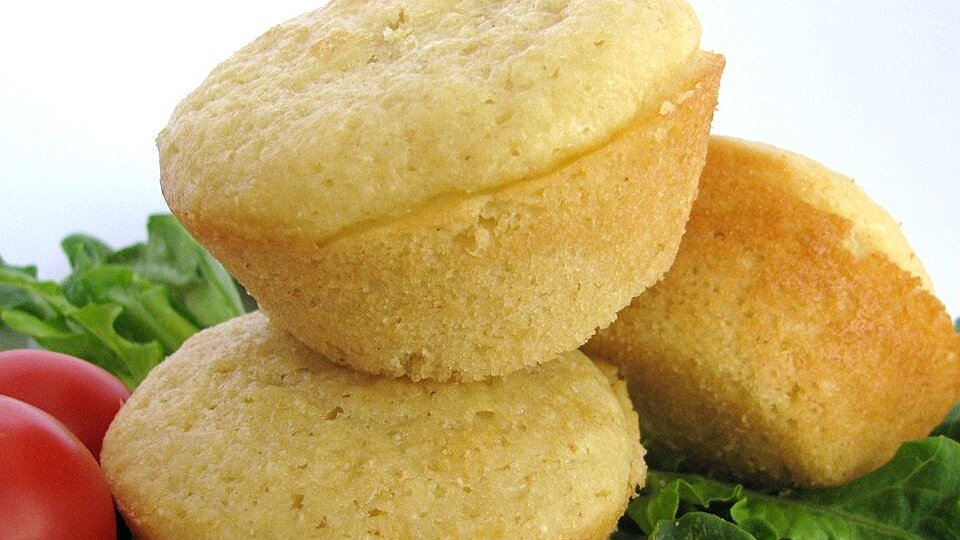 Sweet Corn Muffins with Real Corn